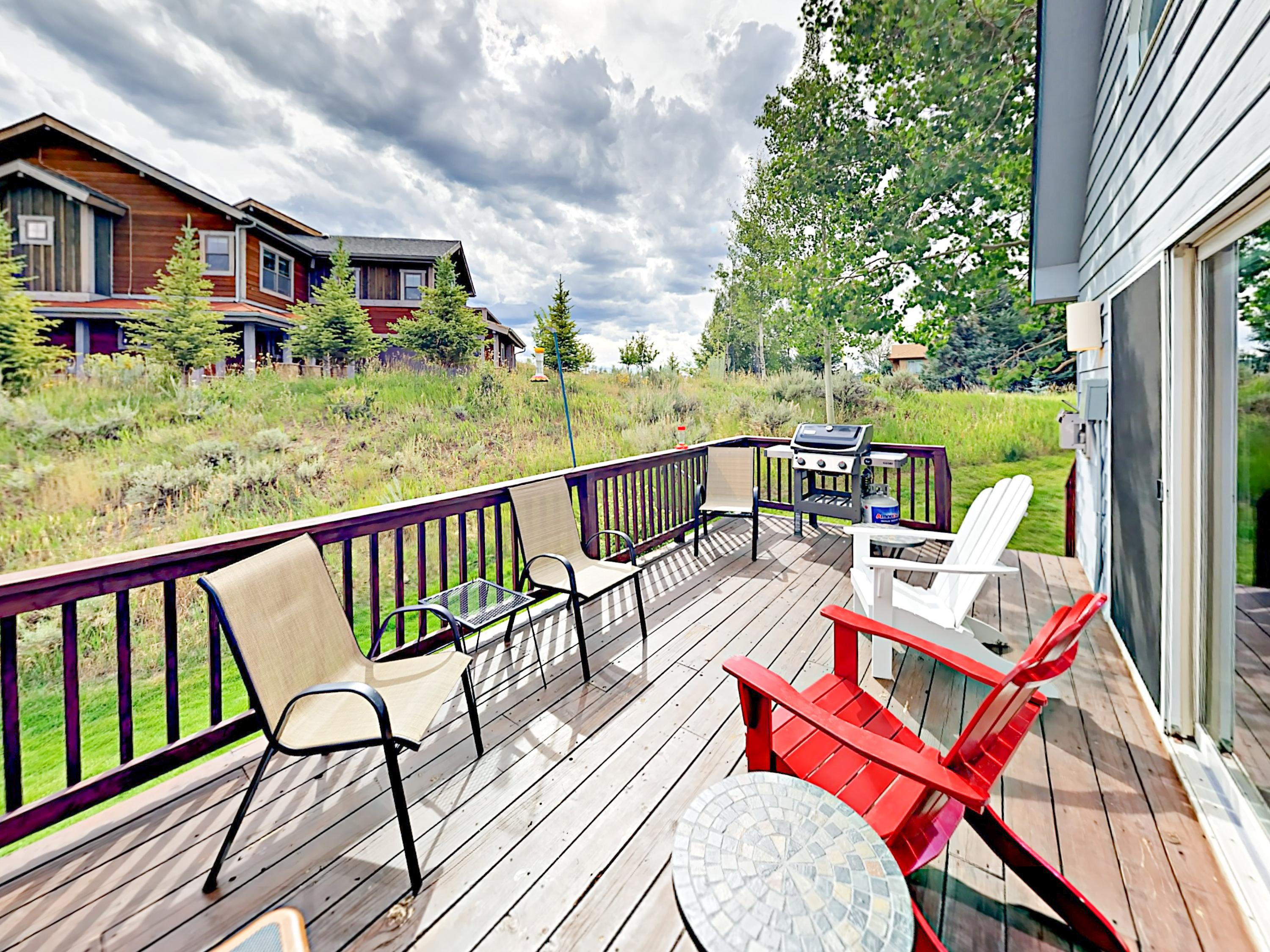 Enjoy the crisp mountain air from your private deck.