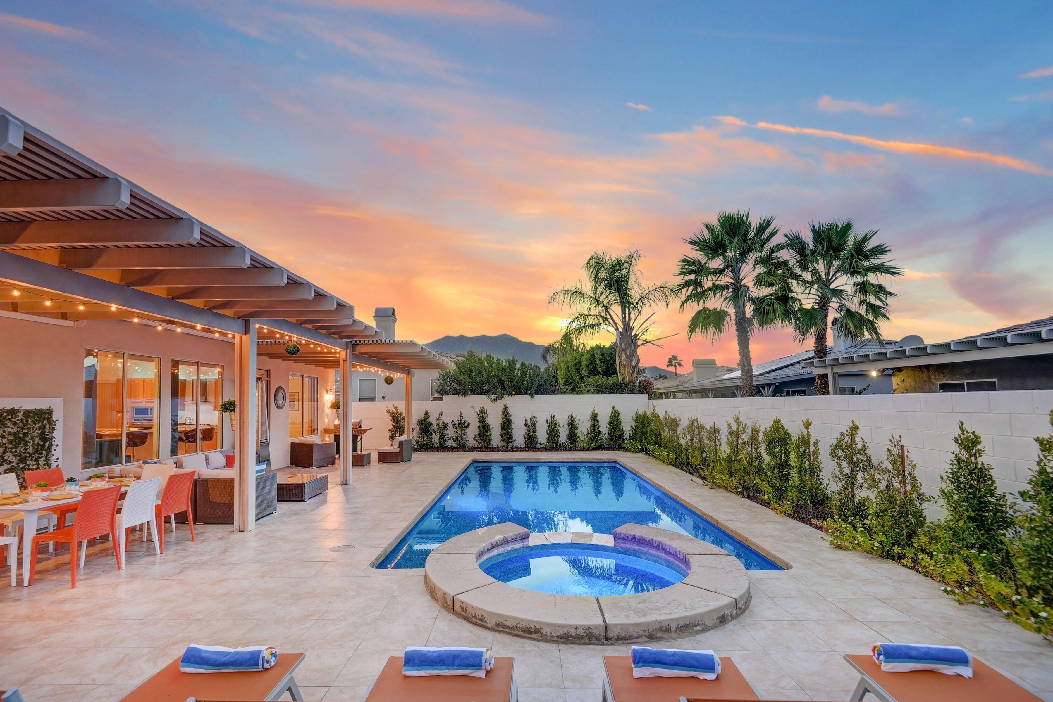 Welcome to Palm Springs! Enjoy sunsets by your gorgeous private pool with desert mountain views. Your spectacular rental is professionally managed and maintained by TurnKey Vacation Rentals.