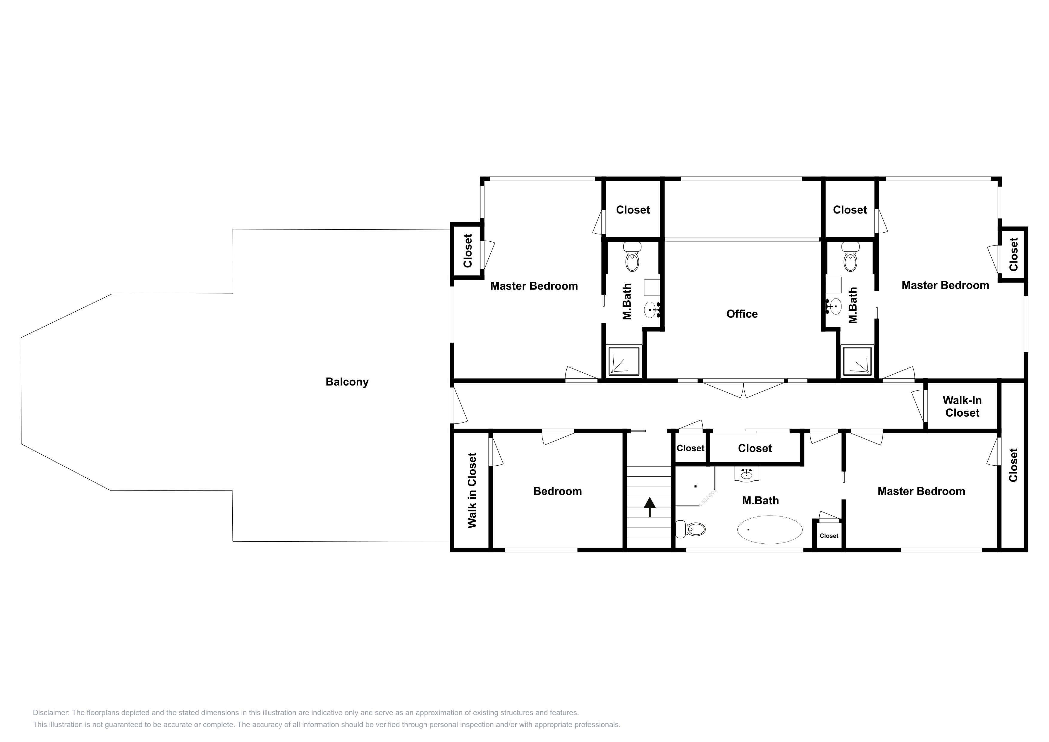Second floor: This floor plan is an approximation and may not include the most recent information.