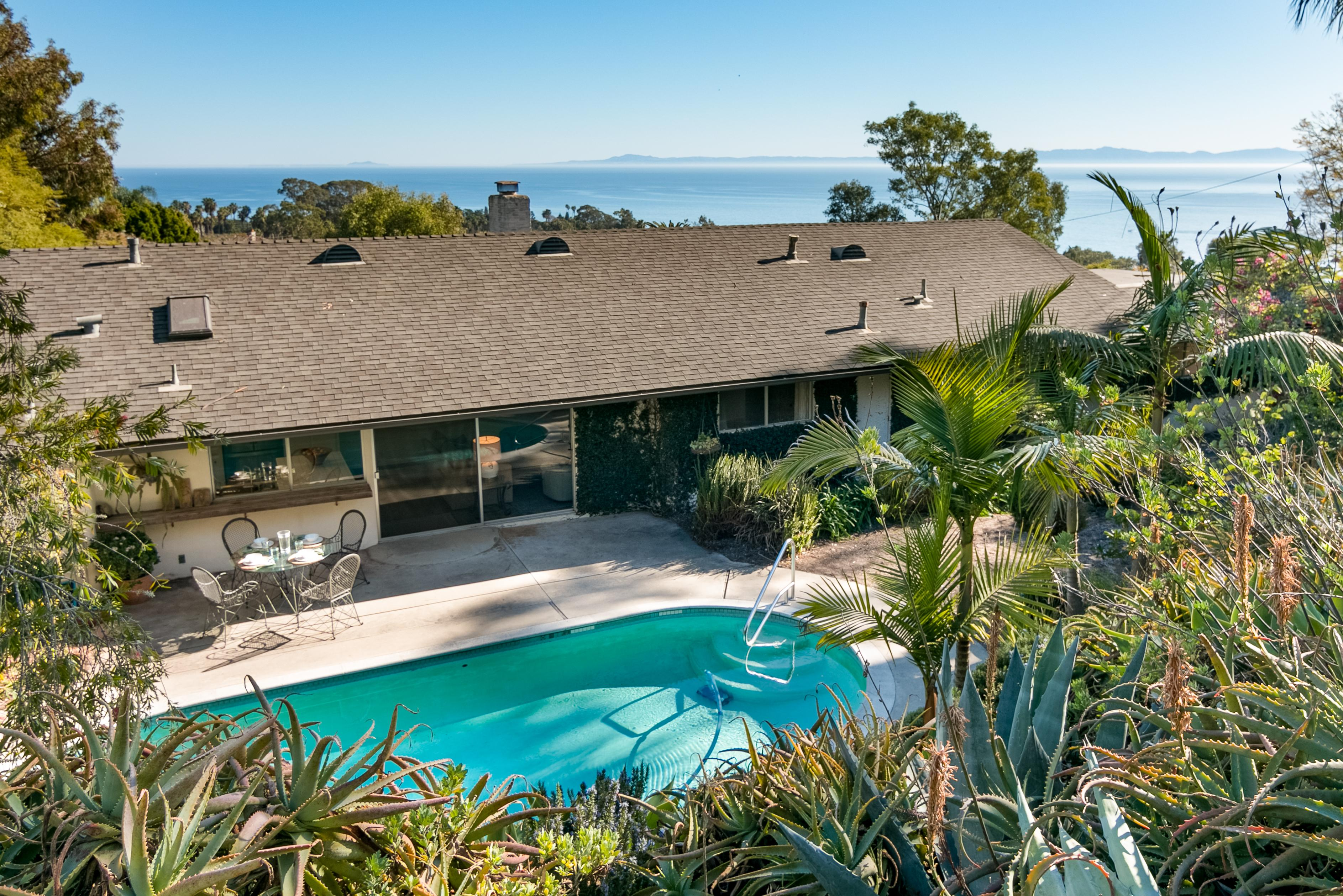 A prime location in the exclusive Hope Ranch community, this property offers unparalleled ocean views.