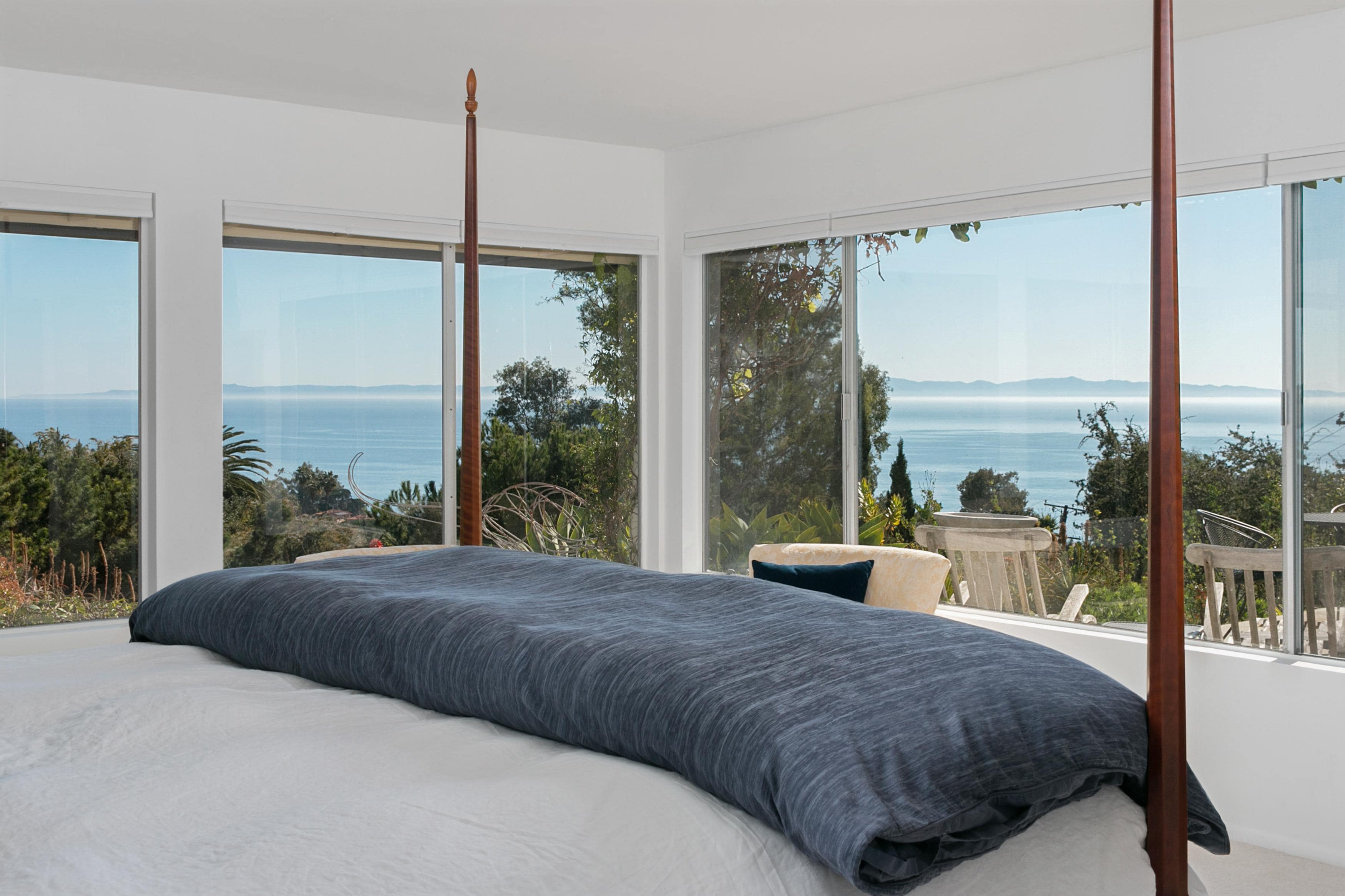 Welcome to your tropical oasis in Santa Barbara! Wake up to a gorgeous ocean view in the master bedroom.