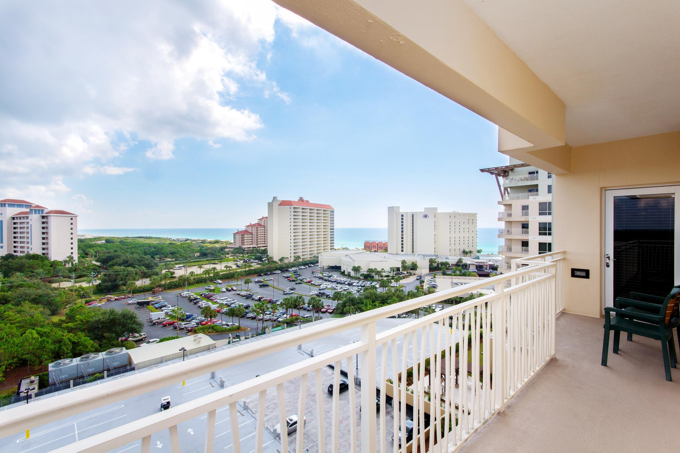 Welcome to your condo in Miramar Beach!  Retreat to the private wraparound balcony with views of the Gulf and Choctawhatchee Bay.