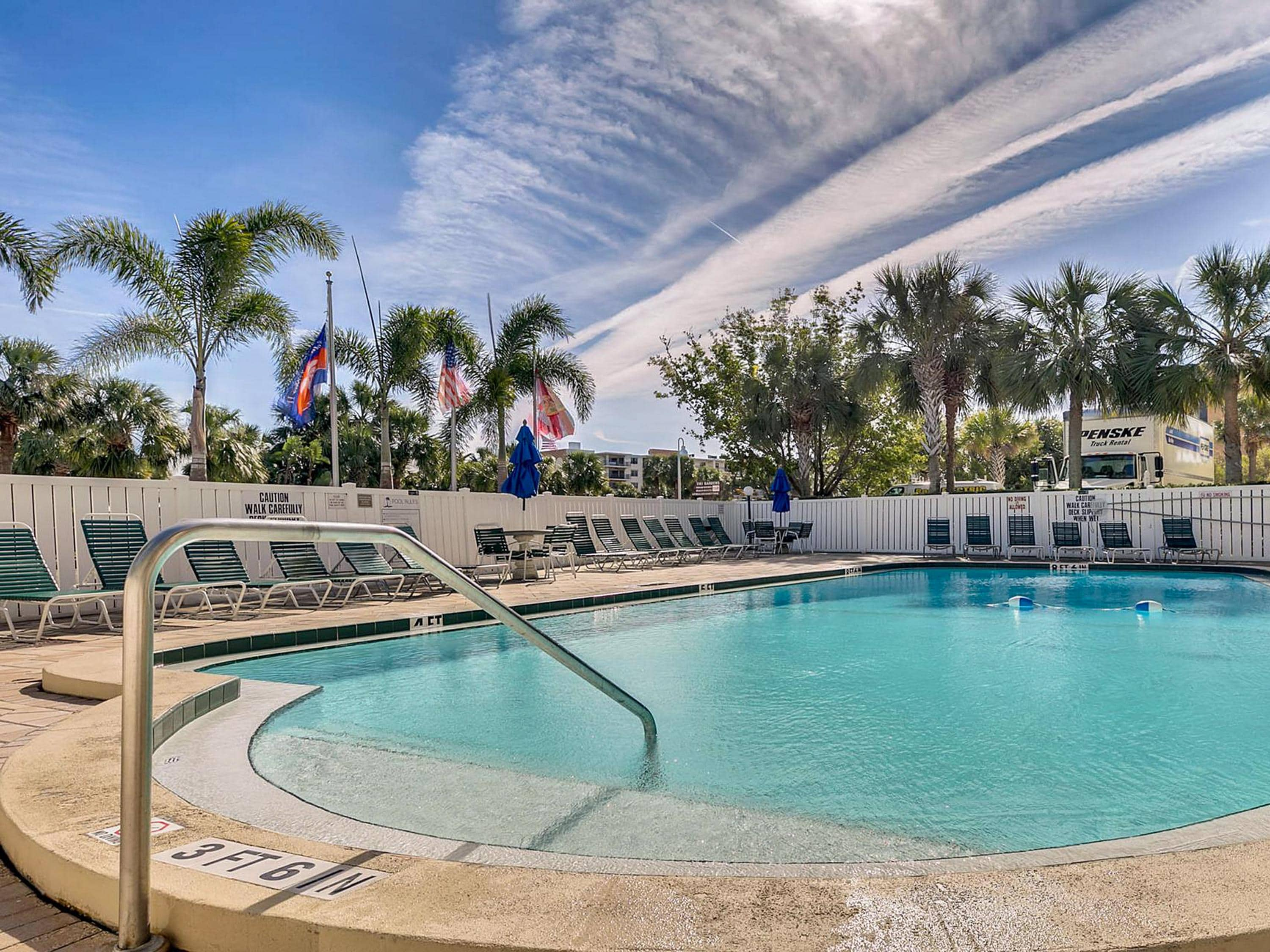 As part of the Holiday Villas II community, you'll enjoy refreshing swims in a sparkling pool.