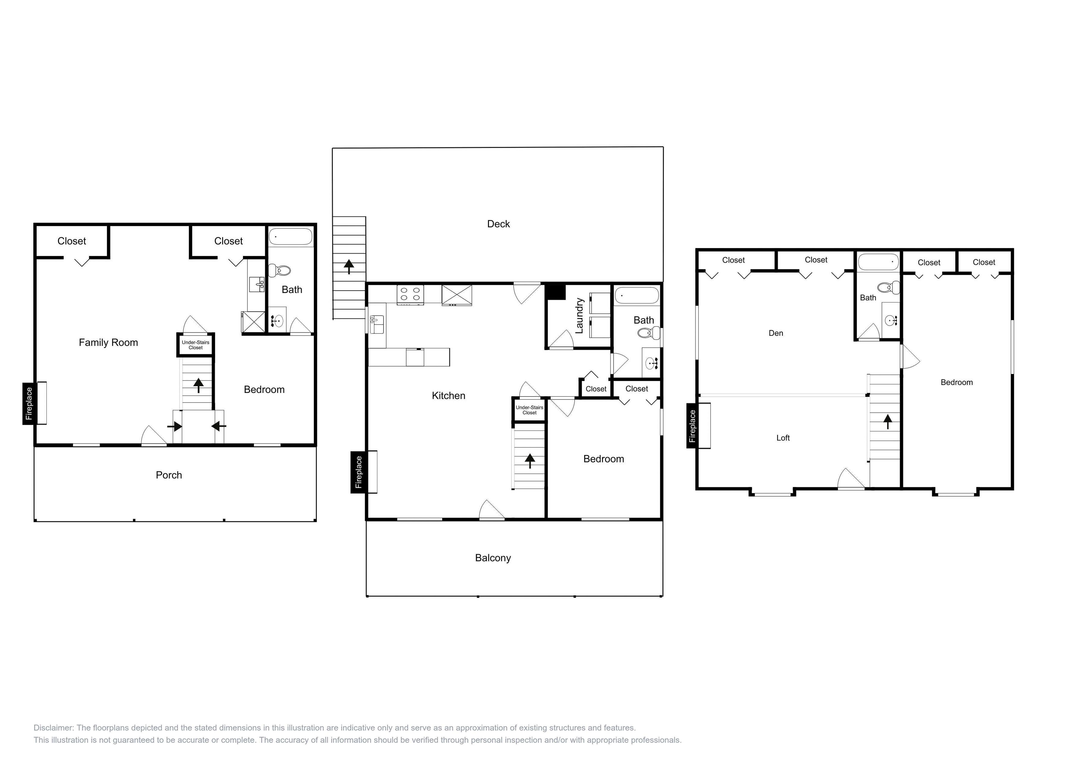 Spacious, multi-level layout. This floor plan is an approximation and may not include the most recent information.
