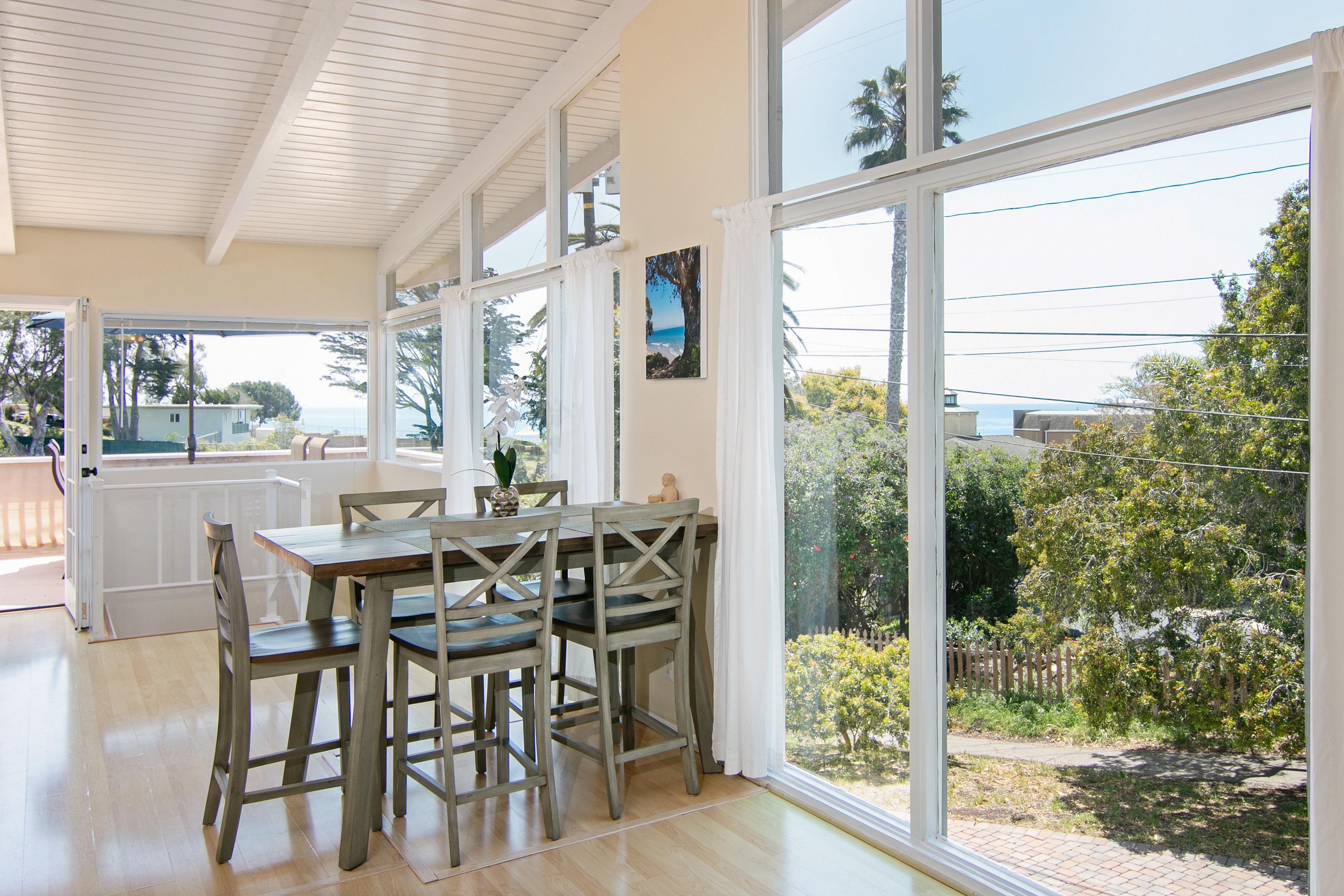 Take in ocean views from the 6-person dining area.