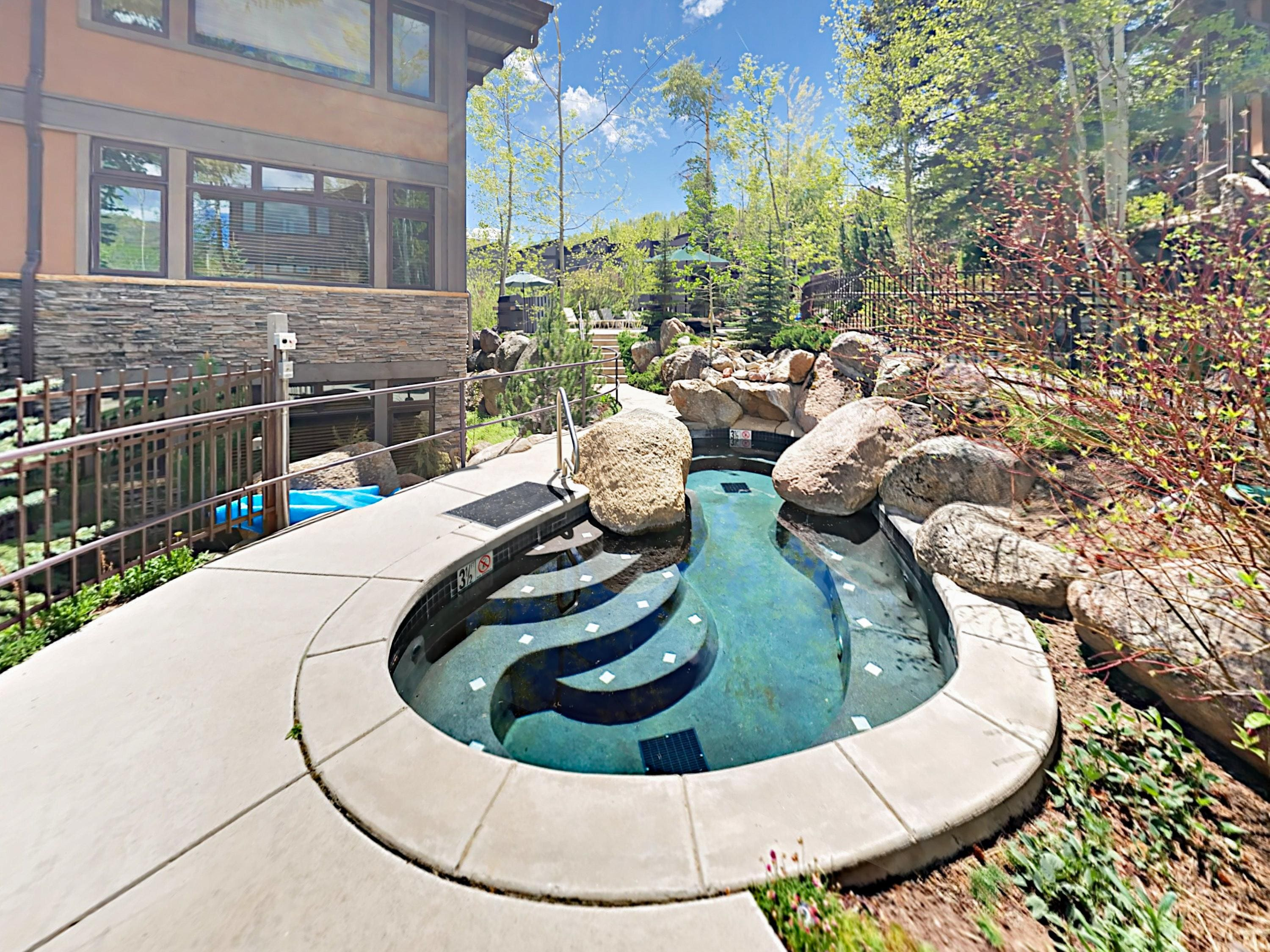 Luxuriate in 2 hot tubs or the sauna.