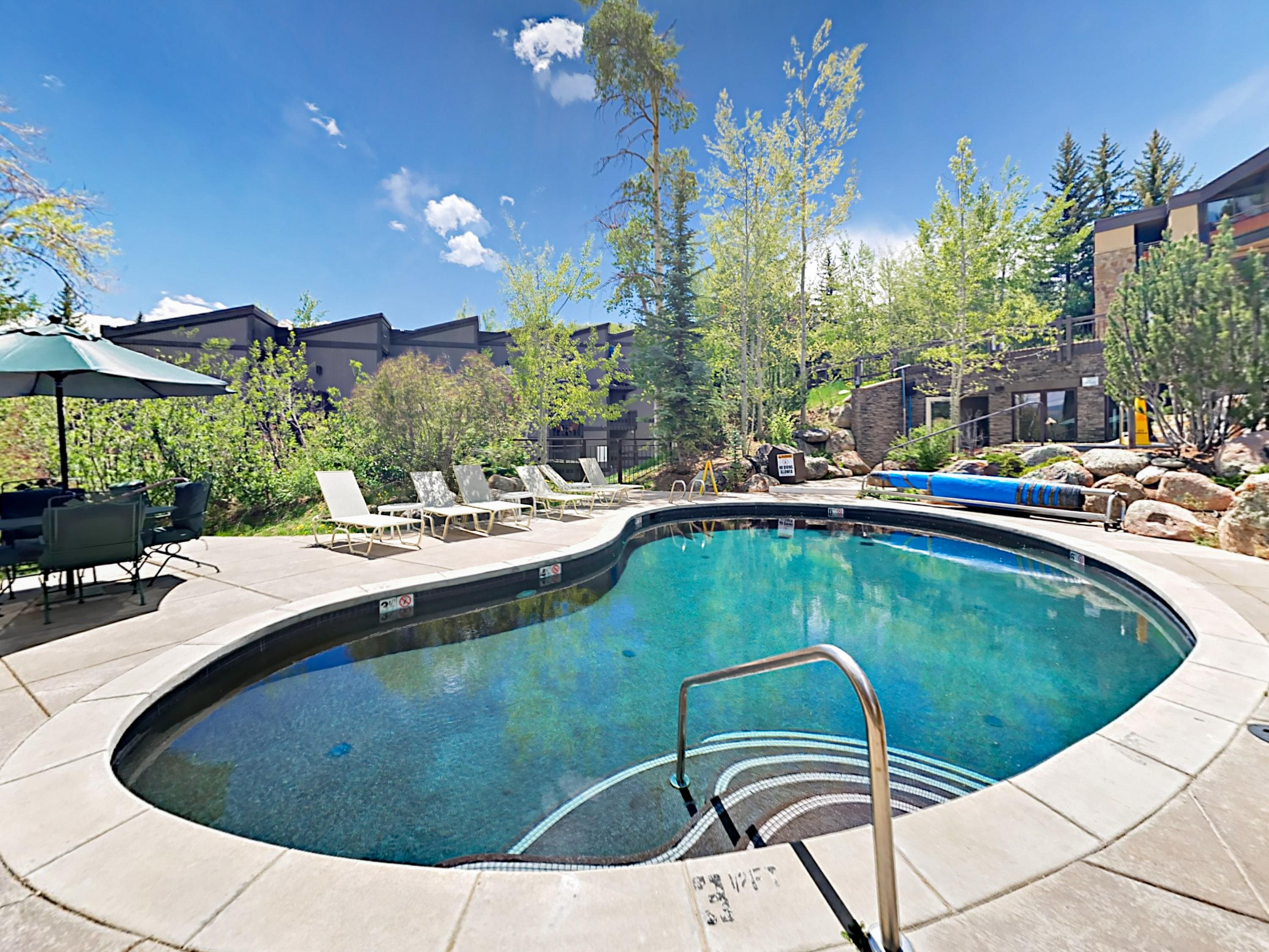 Aspenwood amenities include a shared heated pool and 2 hot tubs.