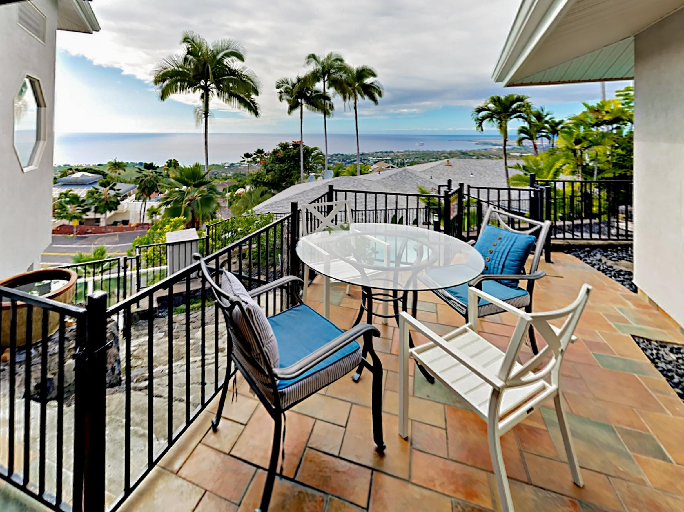 Sip a cold beverage and take in ocean views while relaxing on the balcony.
