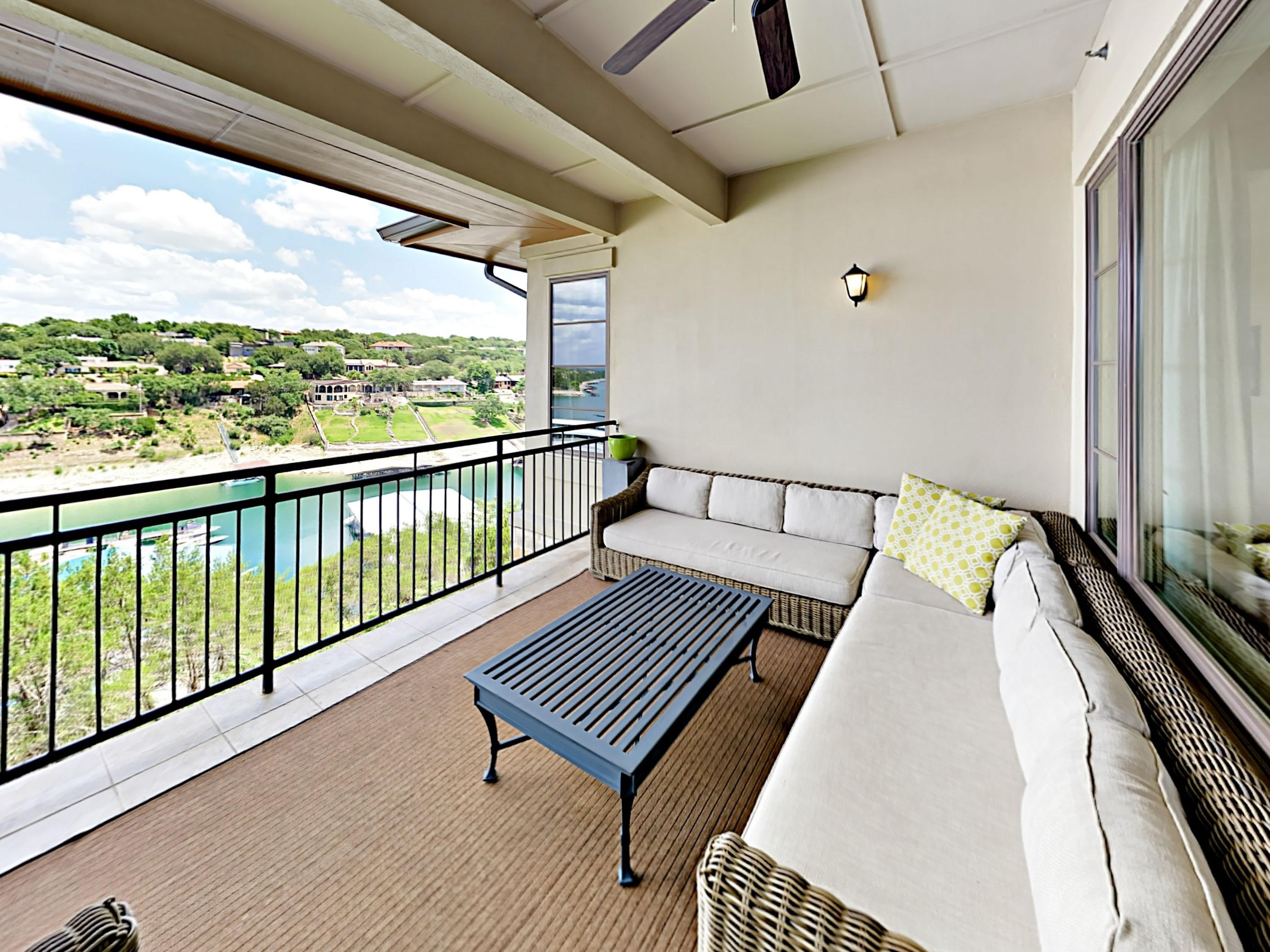 Welcome to Lakeway! This water-view condo on Lake Travis is professionally managed by TurnKey Vacation Rentals.