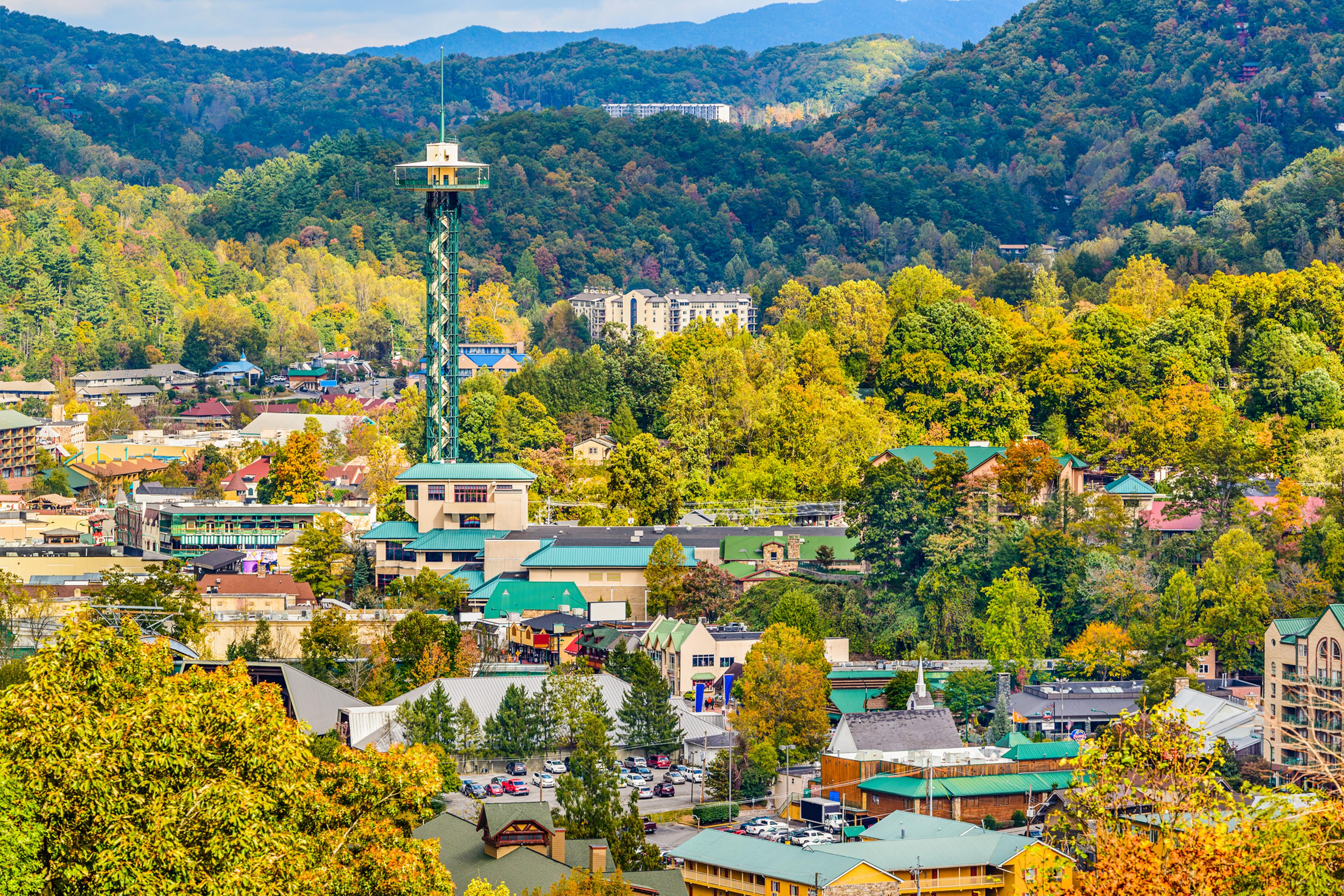 The quaint downtown streets of Gatlinburg are lined with lots of family-friendly restaurants.