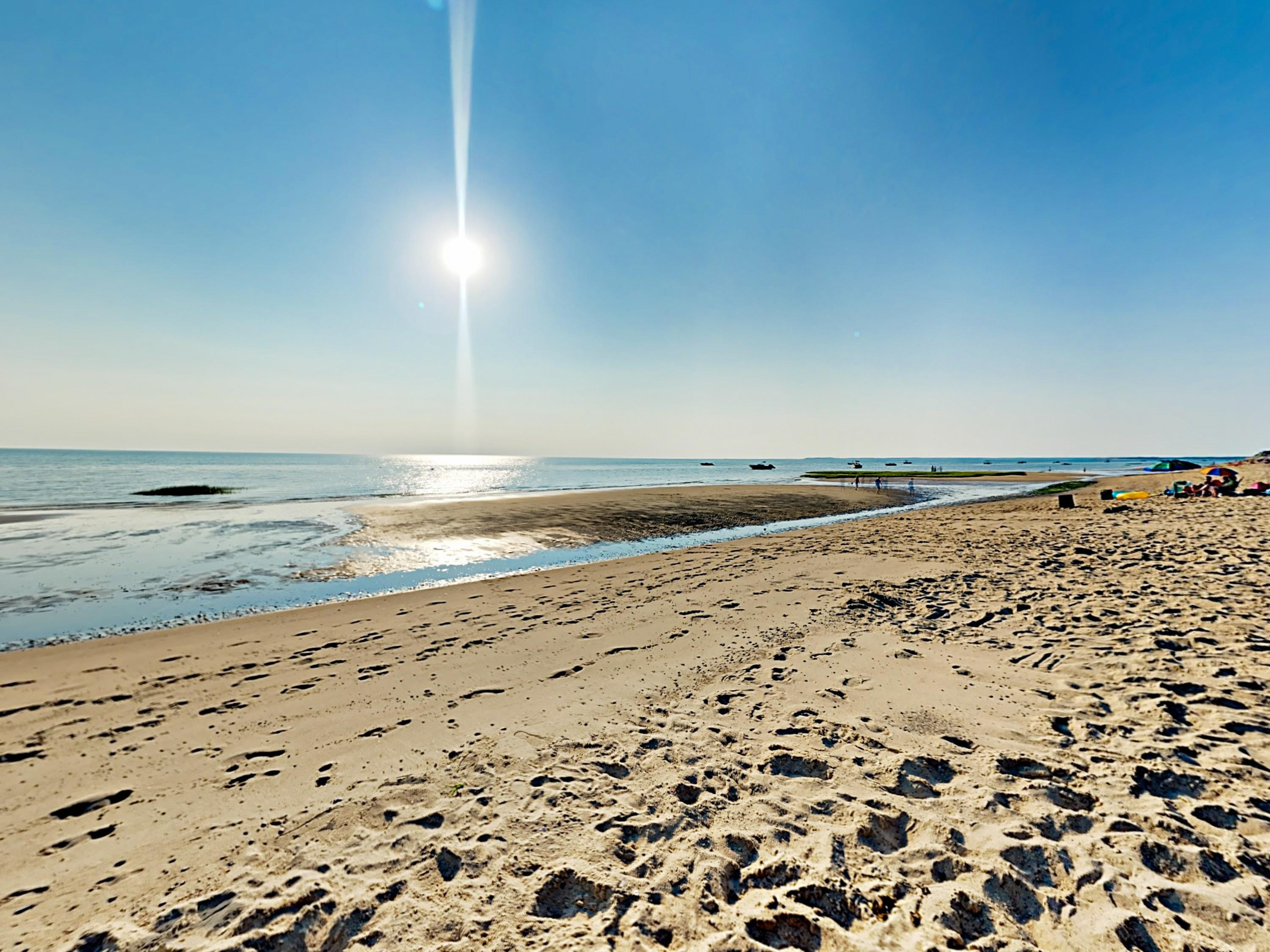 Follow the pathway directly from the property to the semi-private Cape Cod beach.