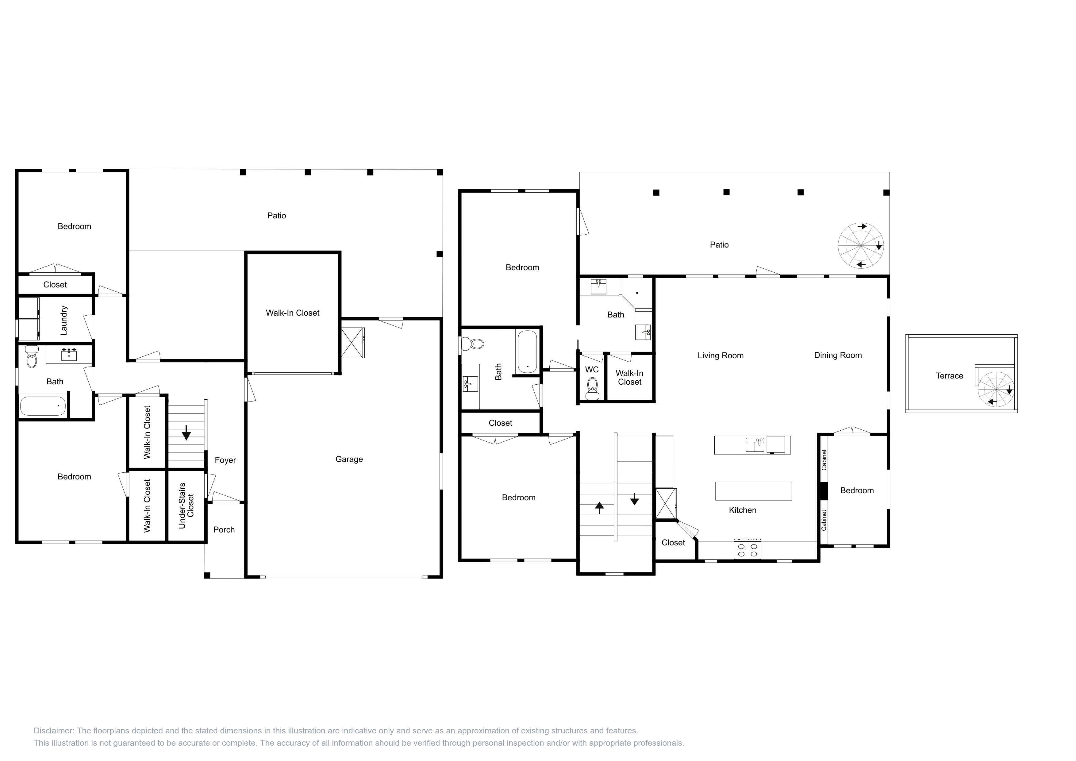 Your 3-story rental's expansive layout.