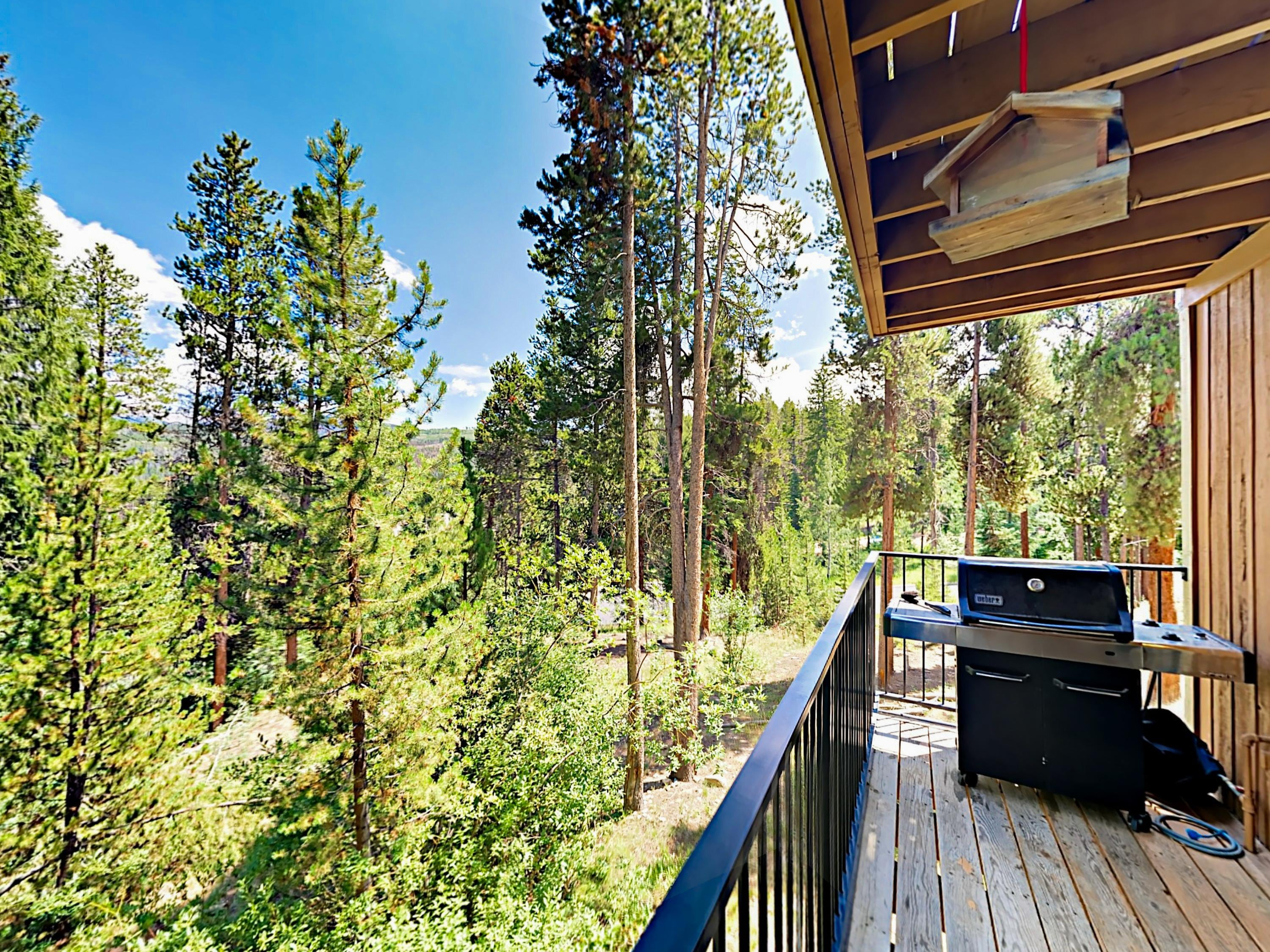 Enjoy the mountain view from the private balcony, complete with a grill.