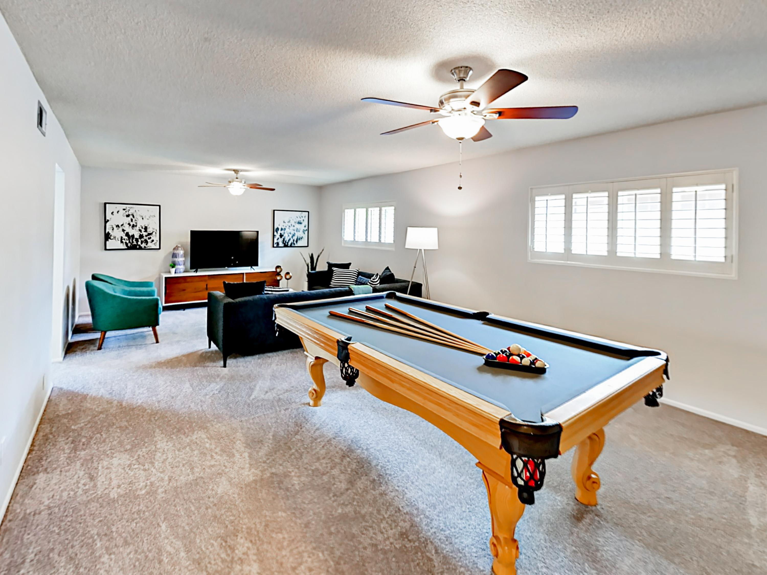 Rack up a game of pool right in the living room!
