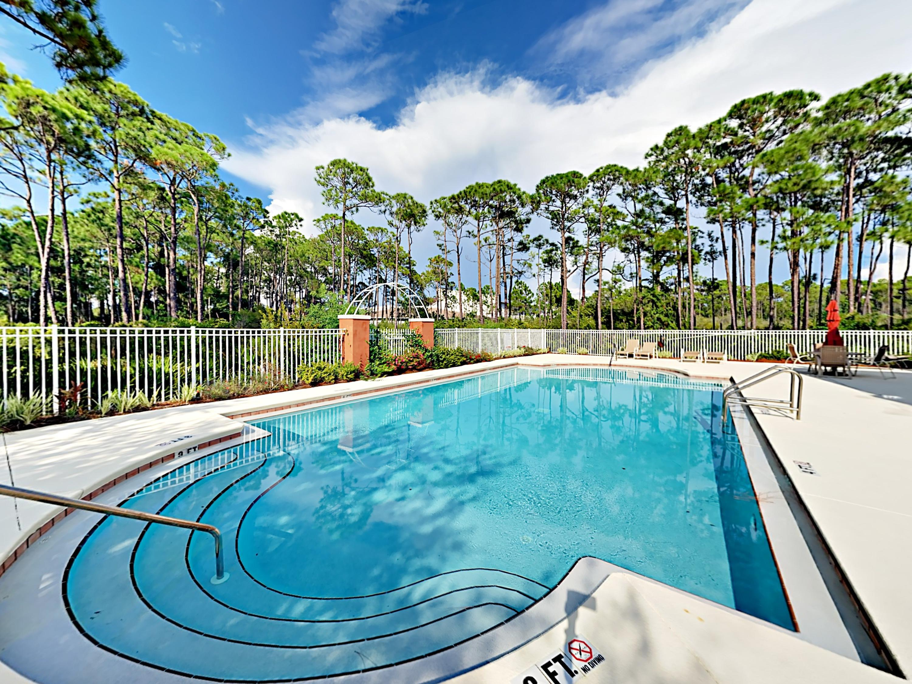 As part of the luxe community of Frangista Beach, your rental includes access to a heated year-round pool.