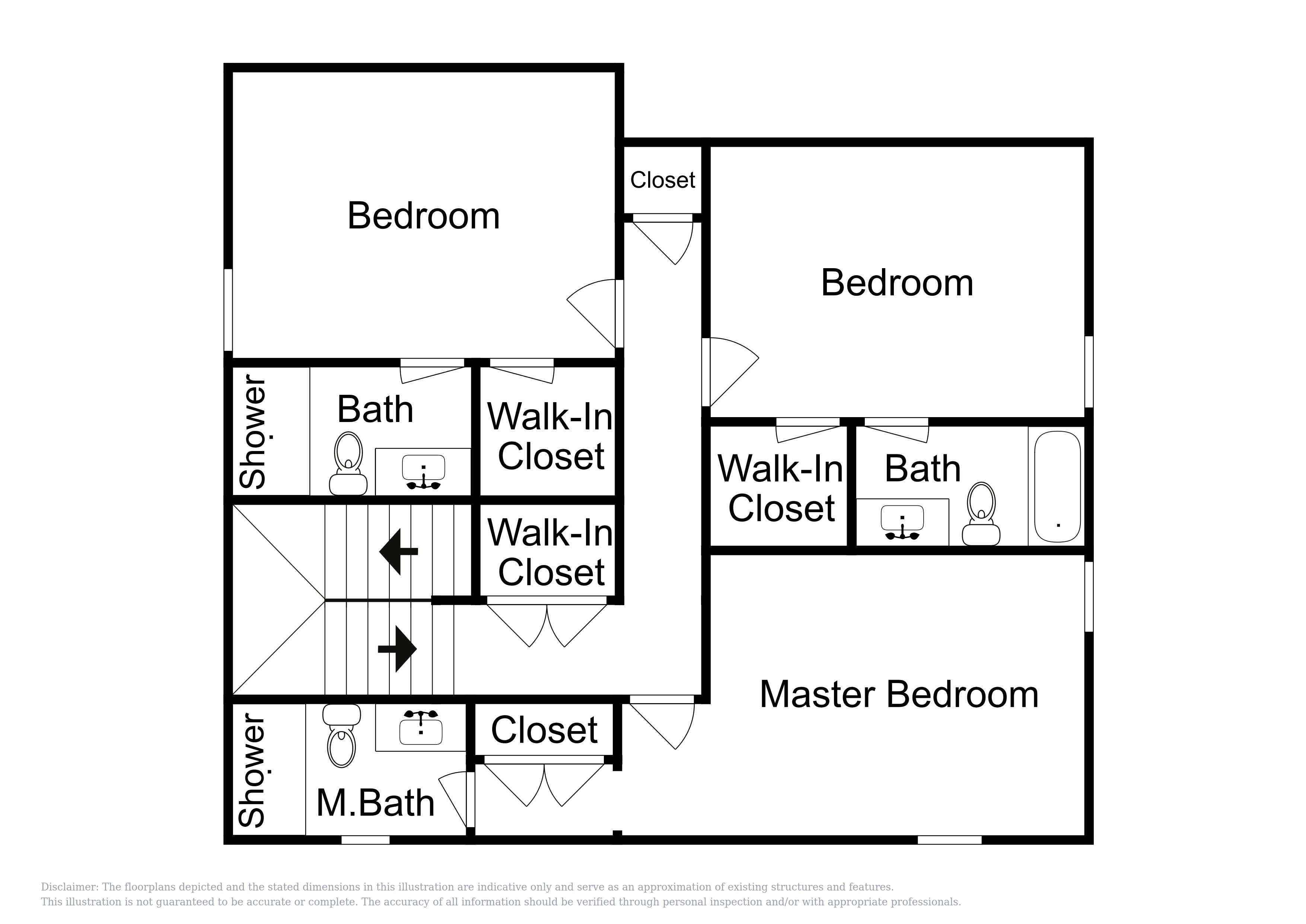 This floor plan of the 2nd level is an approximation and may not include the most recent information.