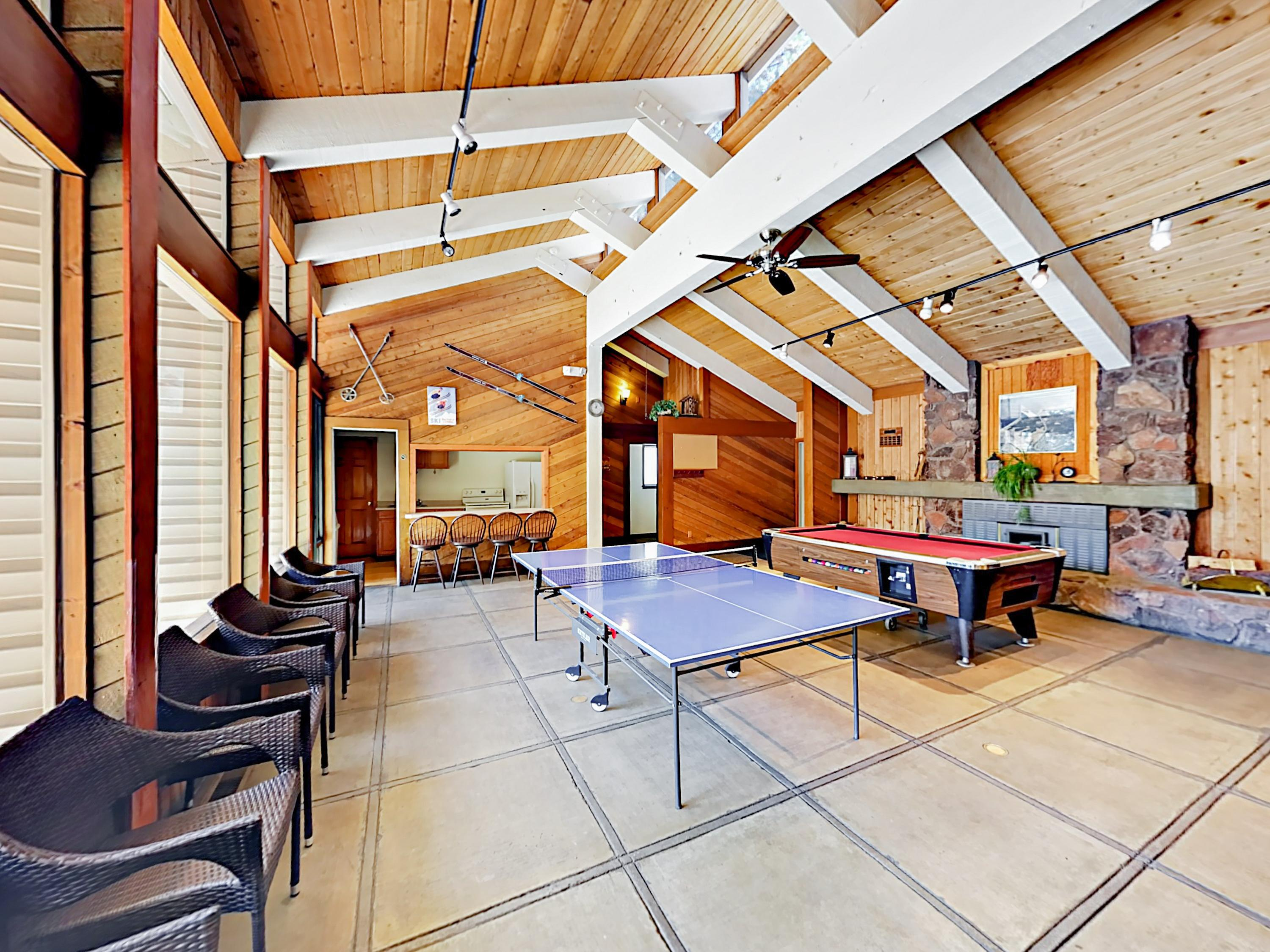 Lake Village amenities include an airy clubhouse with plenty of space to kick back.