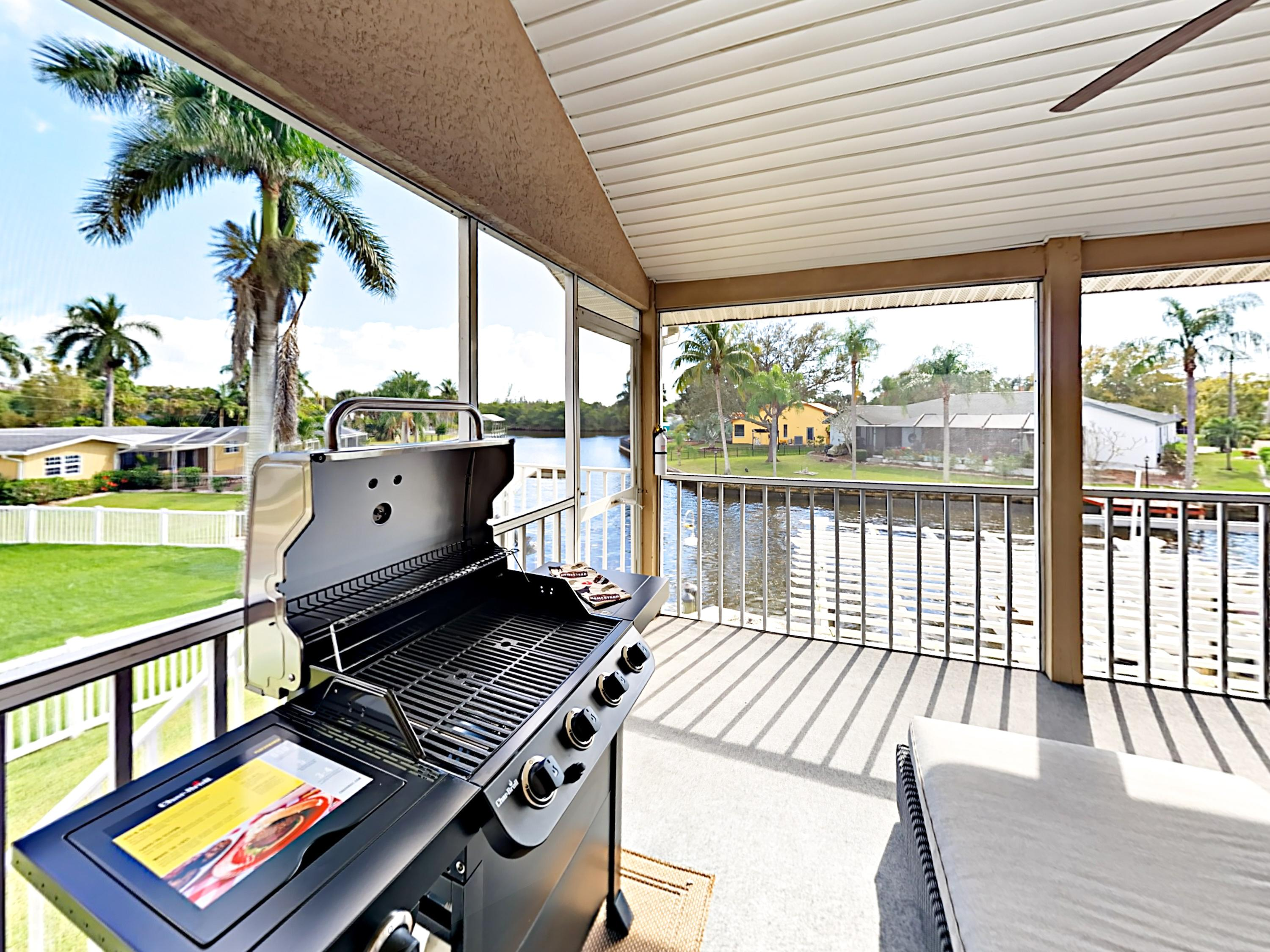 Make use of the grill on the 2nd floor balcony.