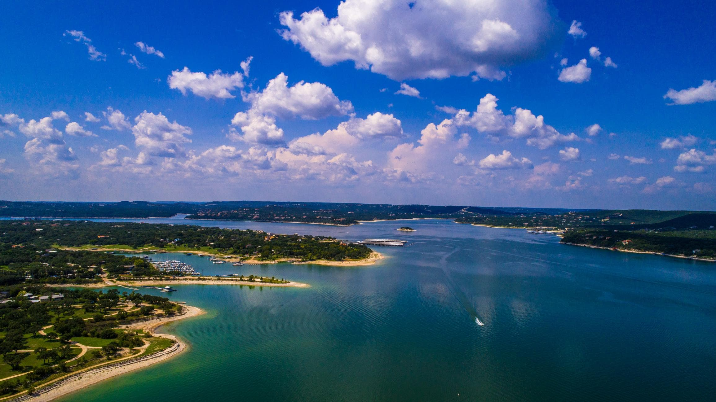 Rent a boat or jet skis and spend a fun day in the sun on Lake Travis.