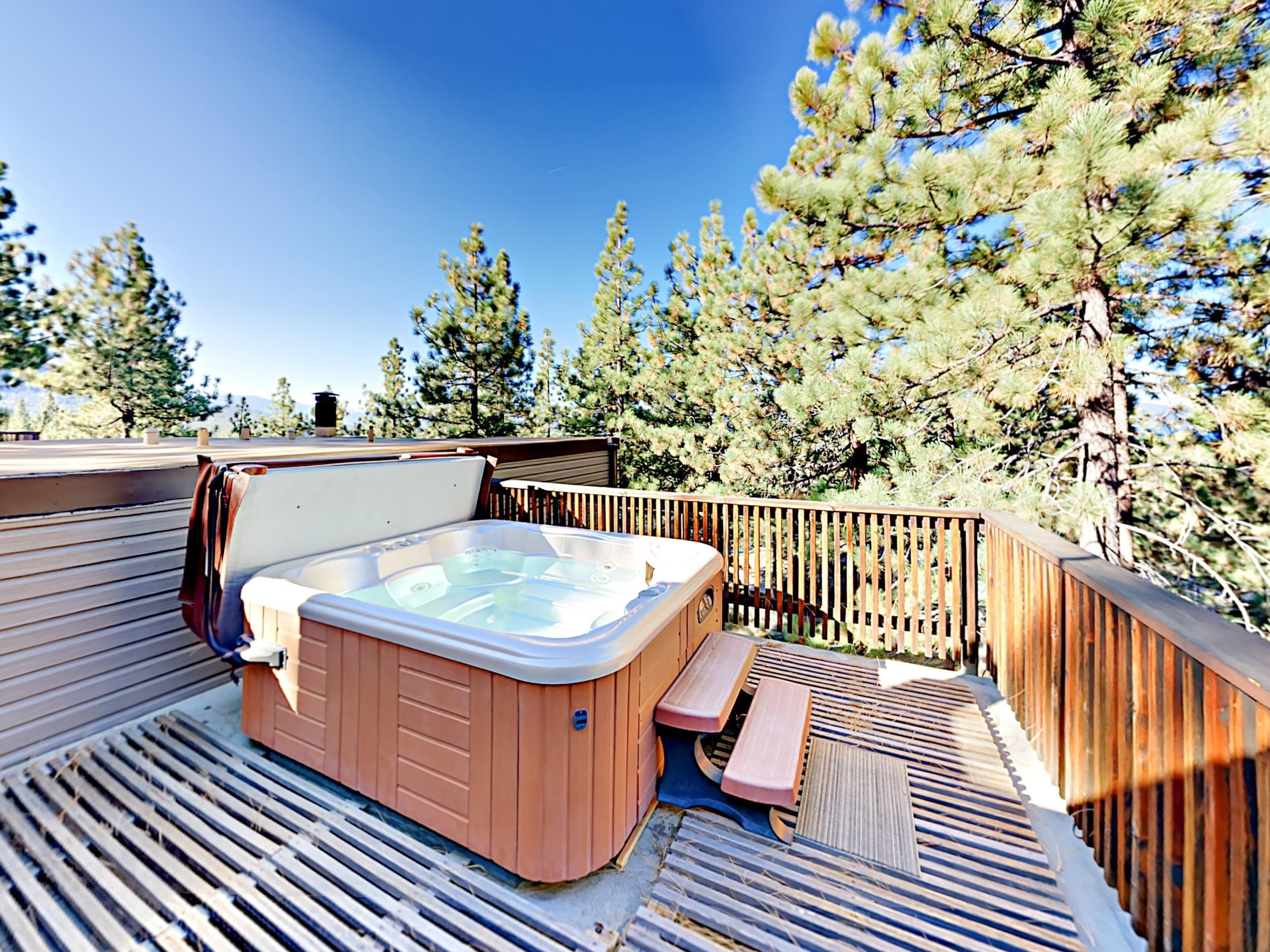 Lake Village Condo with Lake Views from Rooftop Hot Tub