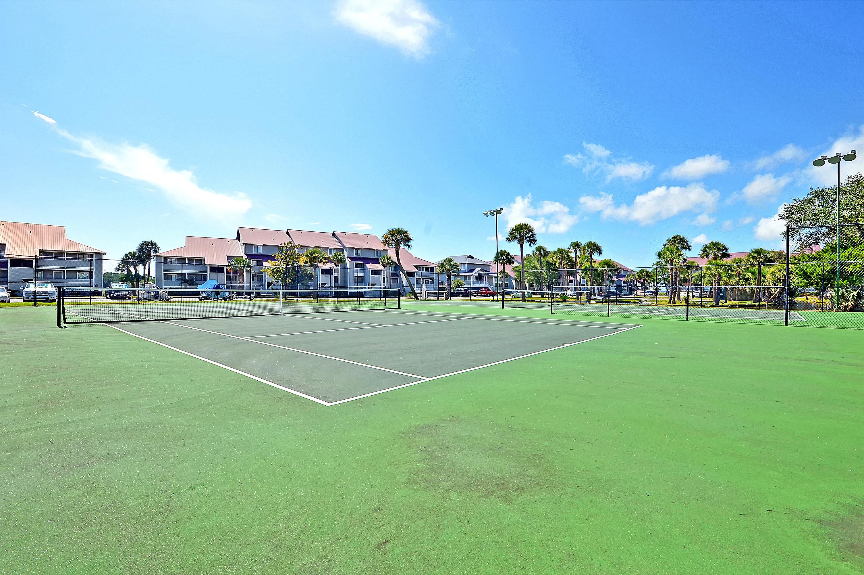 Play a friendly game of tennis at the complex courts.