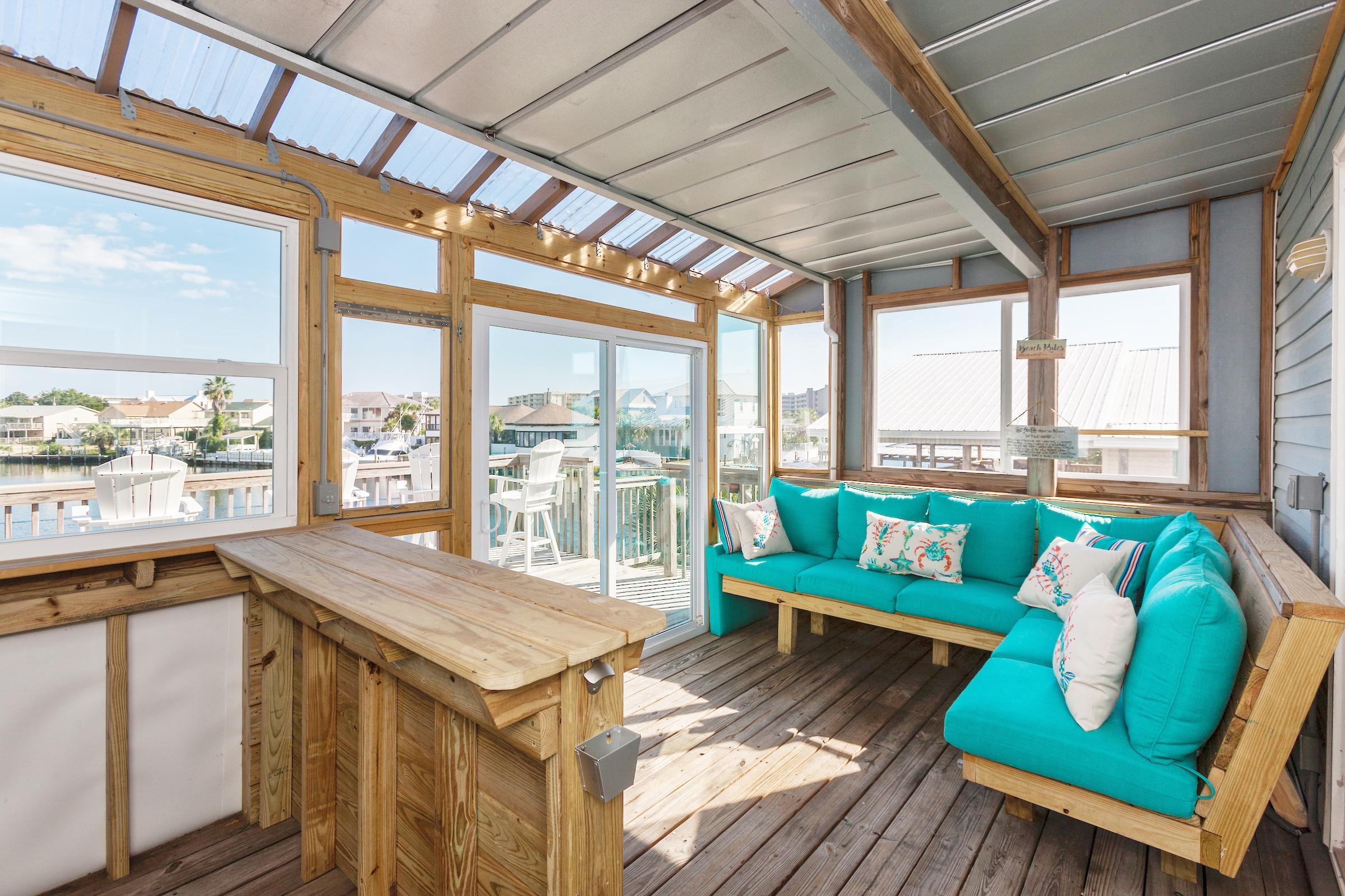 Waterfront Destin Harbor Home with Private Boat Dock