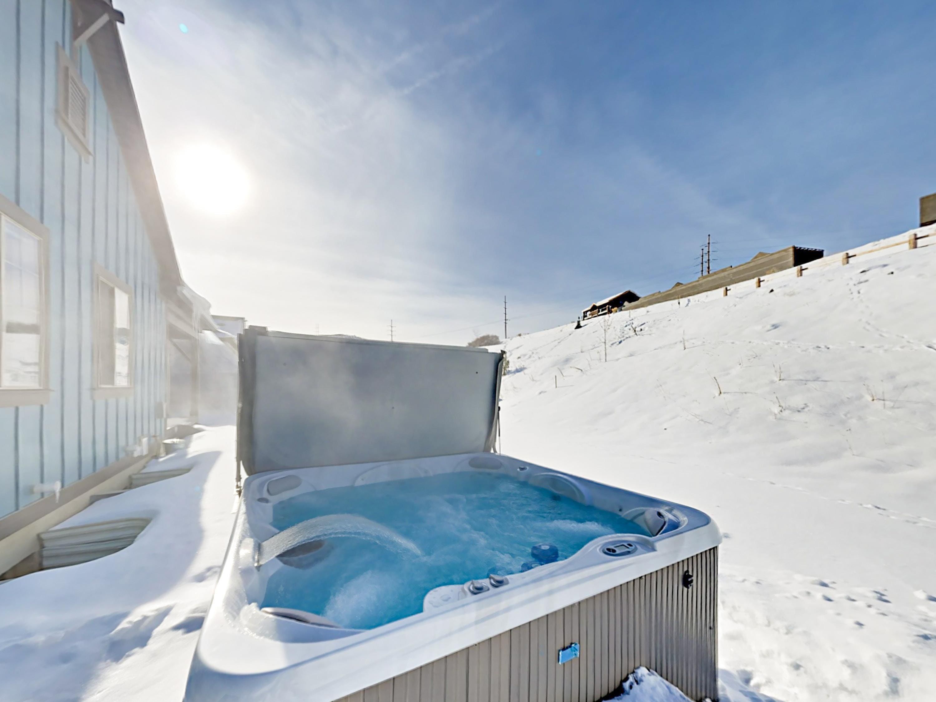 After hitting the ski slopes or hiking trails, soak in your private hot tub on the back patio.