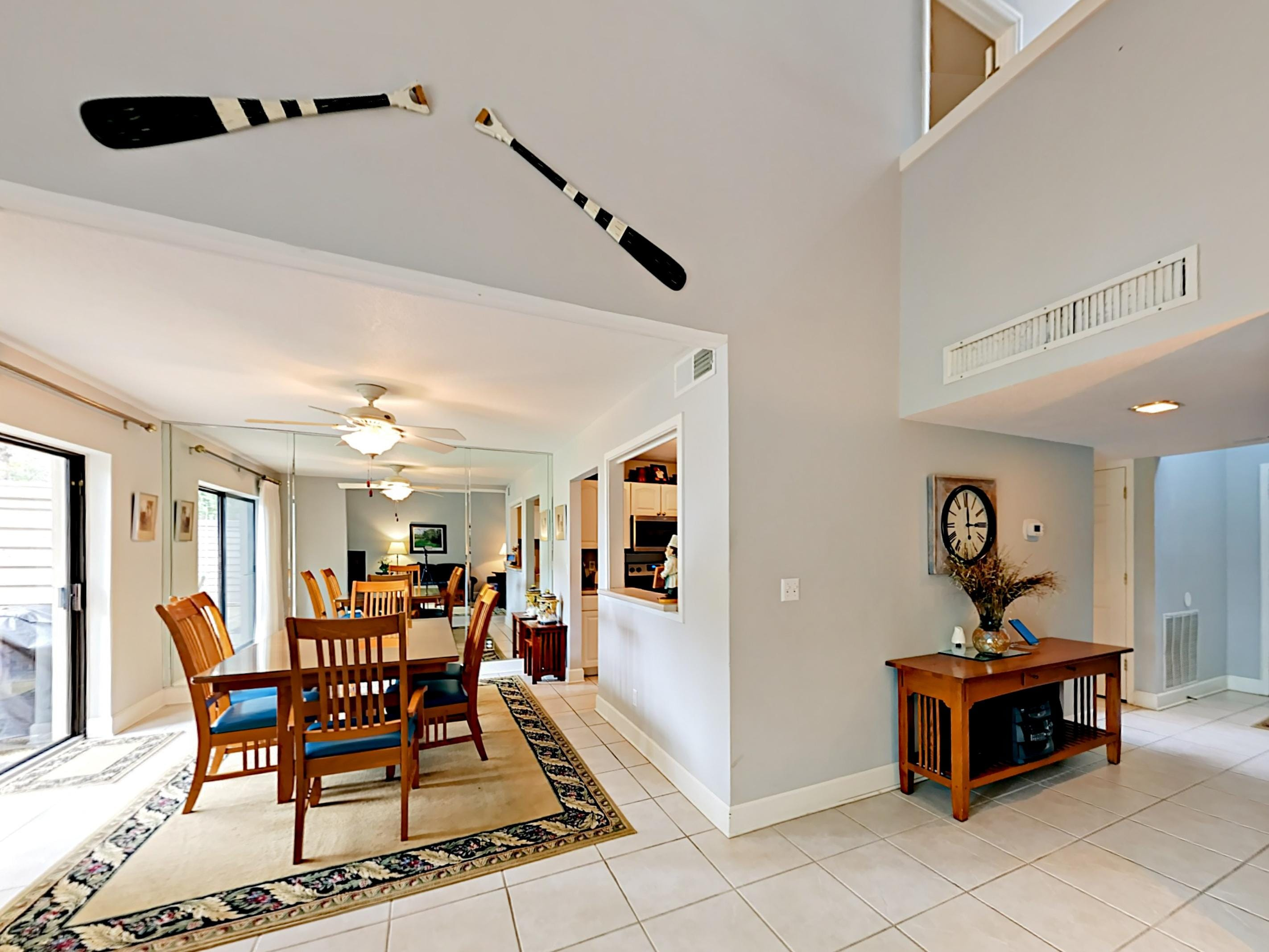 Welcome to Hilton Head Island! The open kitchen and dining space offer a great flow for entertaining.