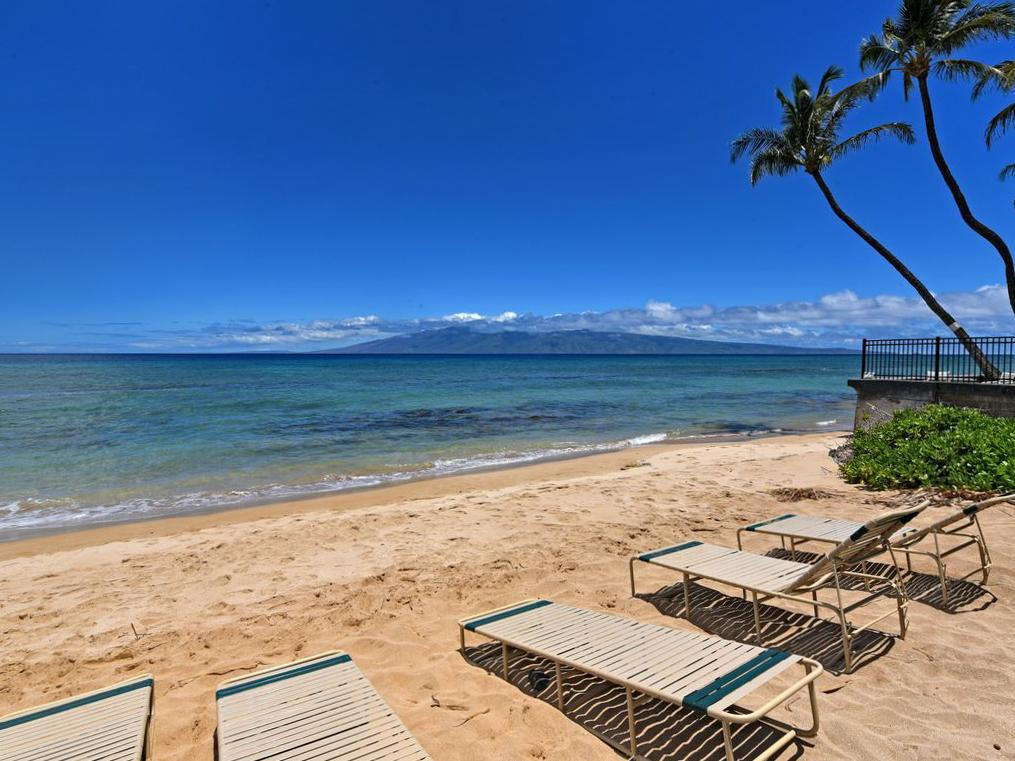 Claim your spot at one of the beachfront loungers and soak in some feel good vitamin D.