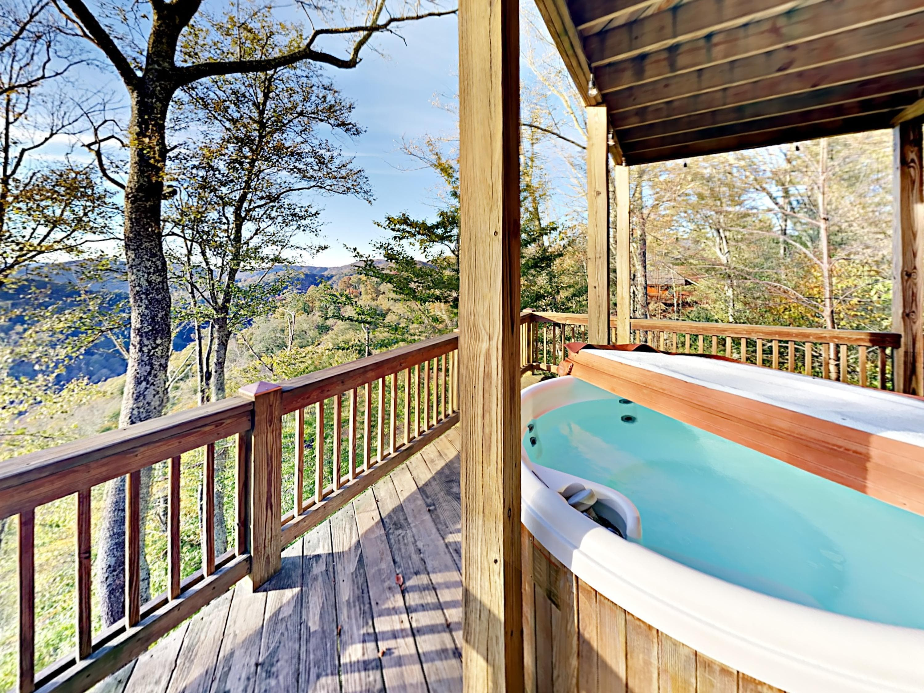 After a thrilling day of outdoor adventures, take an indulgent soak in the hot tub.