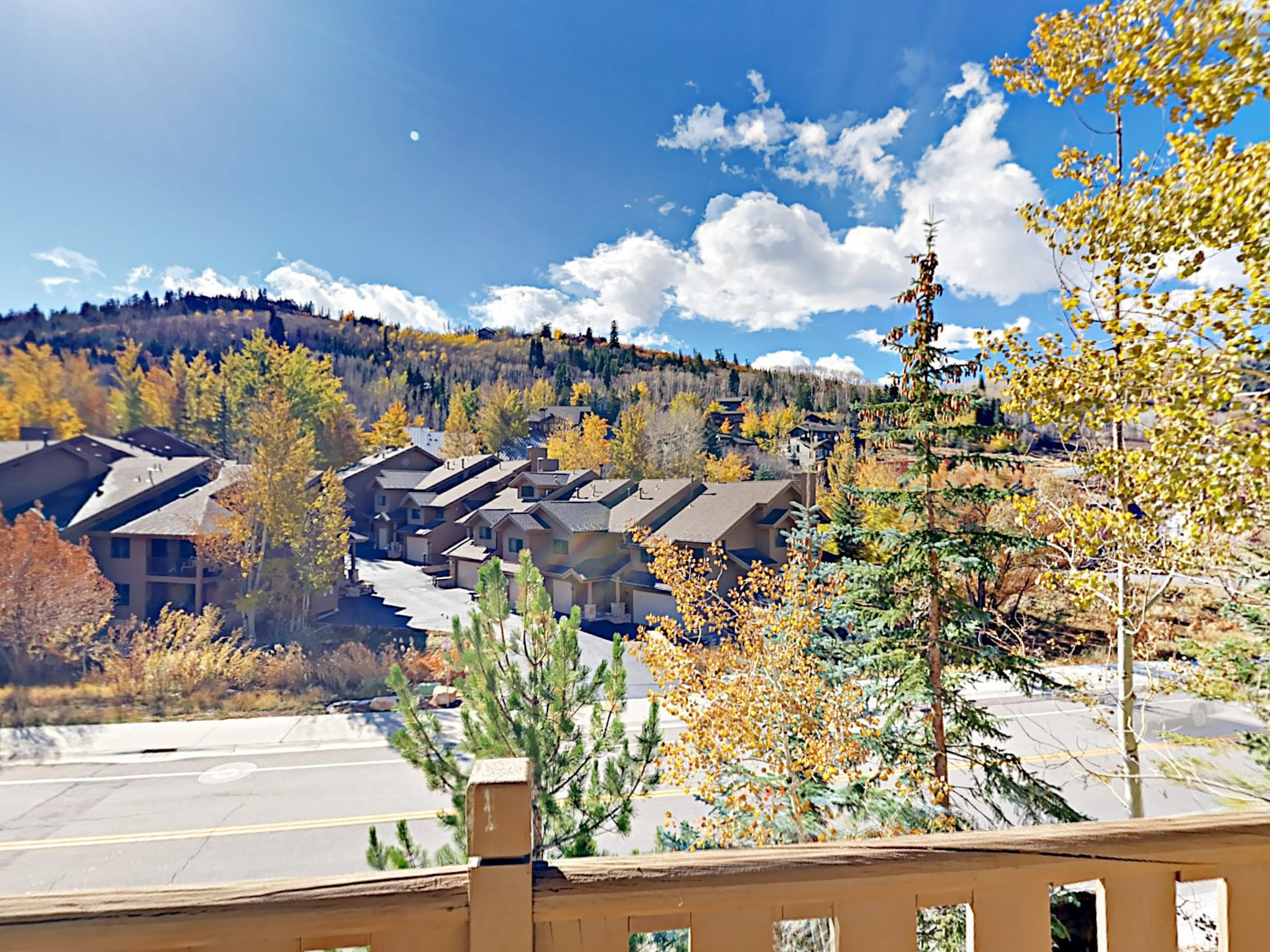 Enjoy gorgeous views from the condo across the mountain scenery.