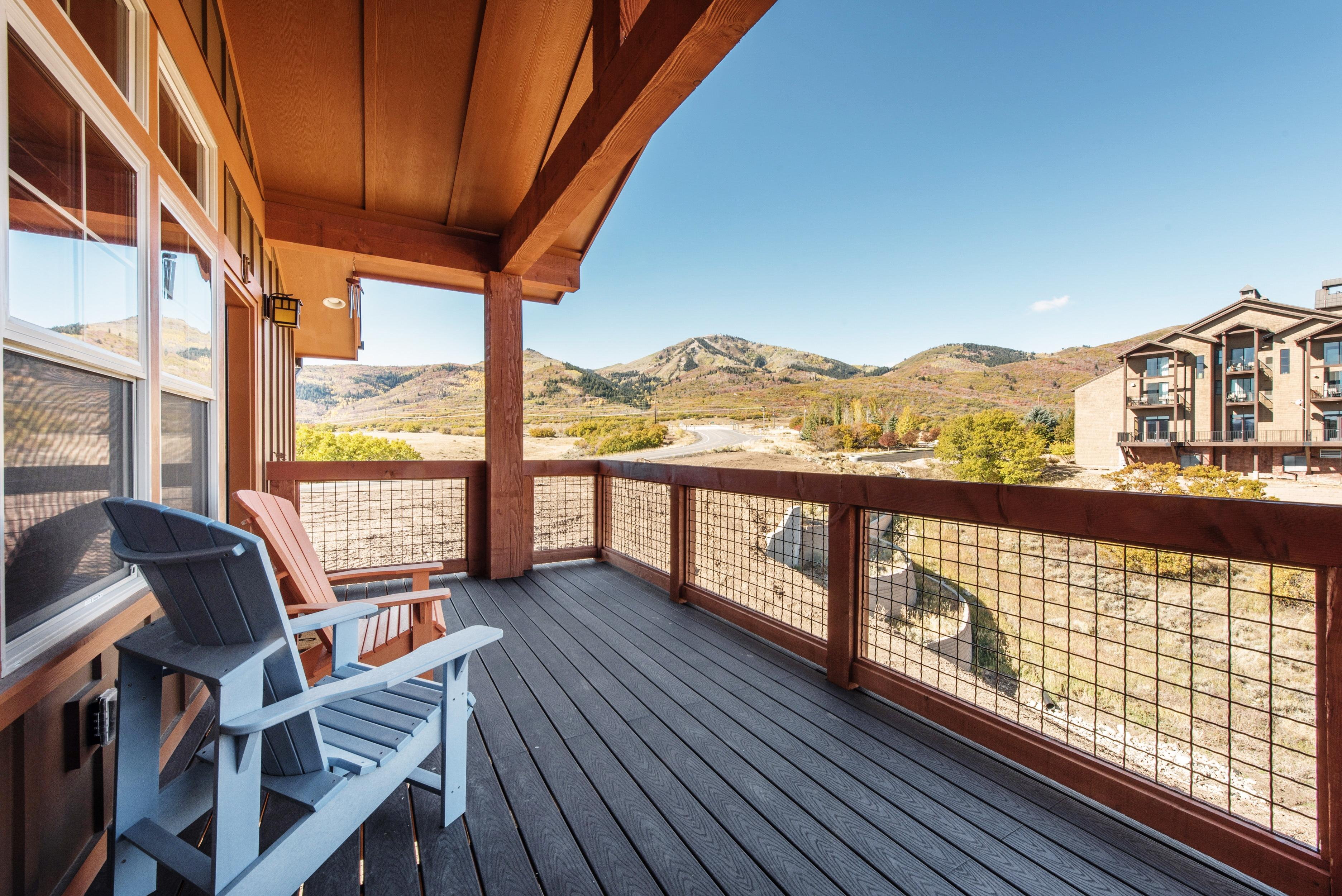 Take in lovely mountain views from your private balcony.