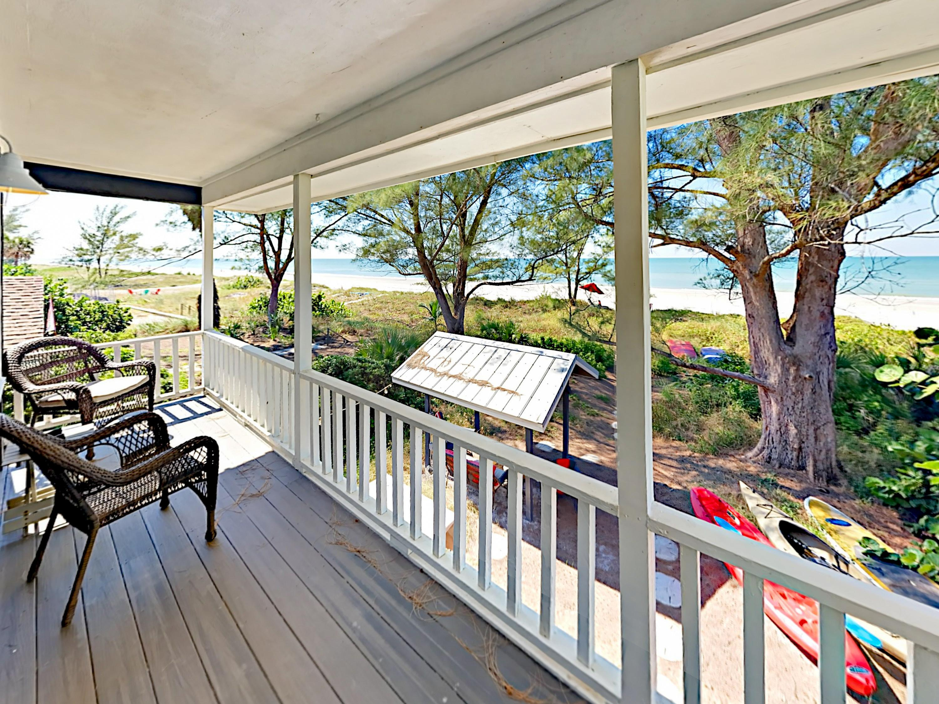 Welcome to Indian Shores! The master bedroom and 2nd bedroom share a private balcony.