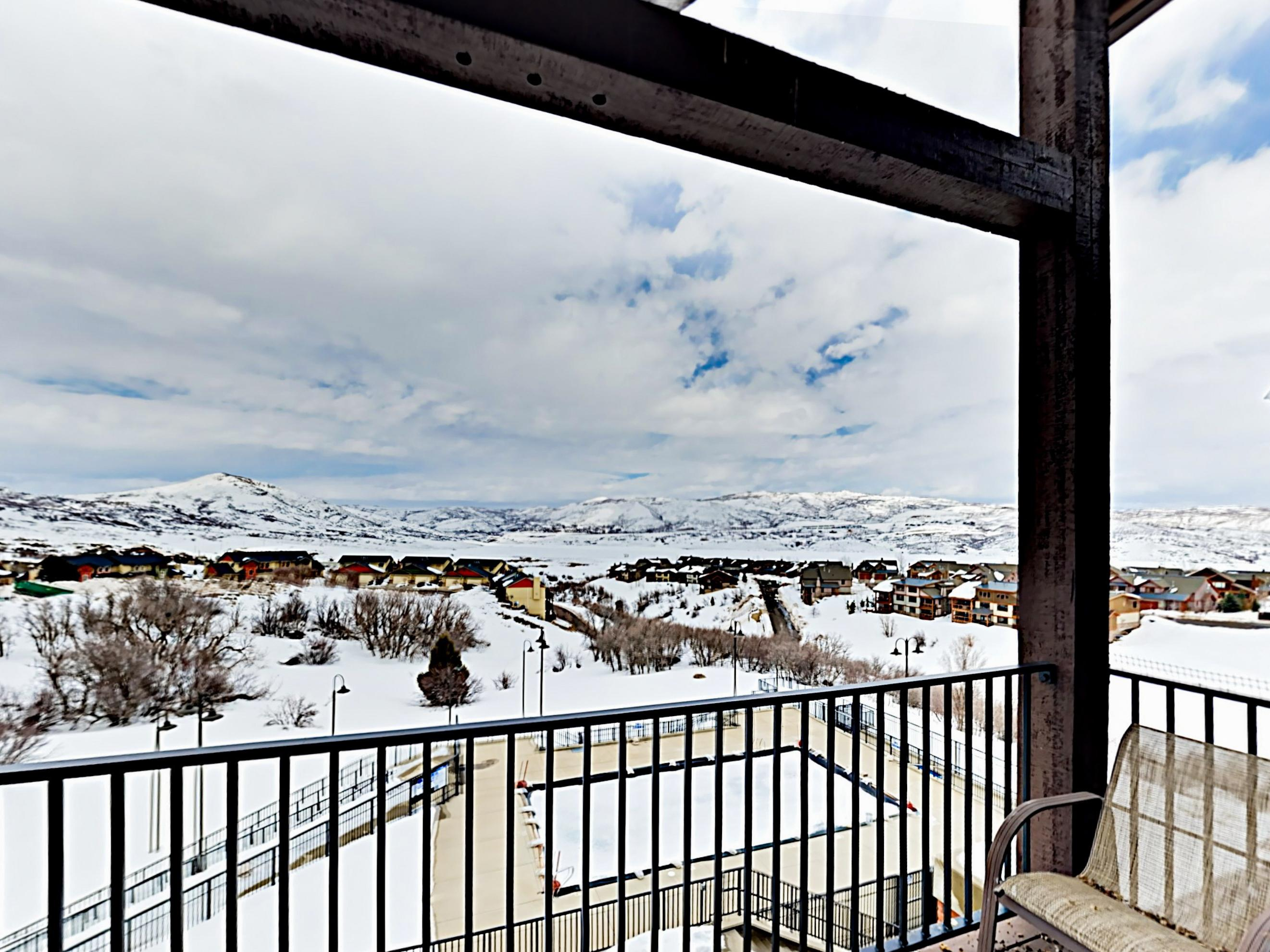 Take in lovely views of the mountains and the Jordanelle Reservoir from 3 balconies.