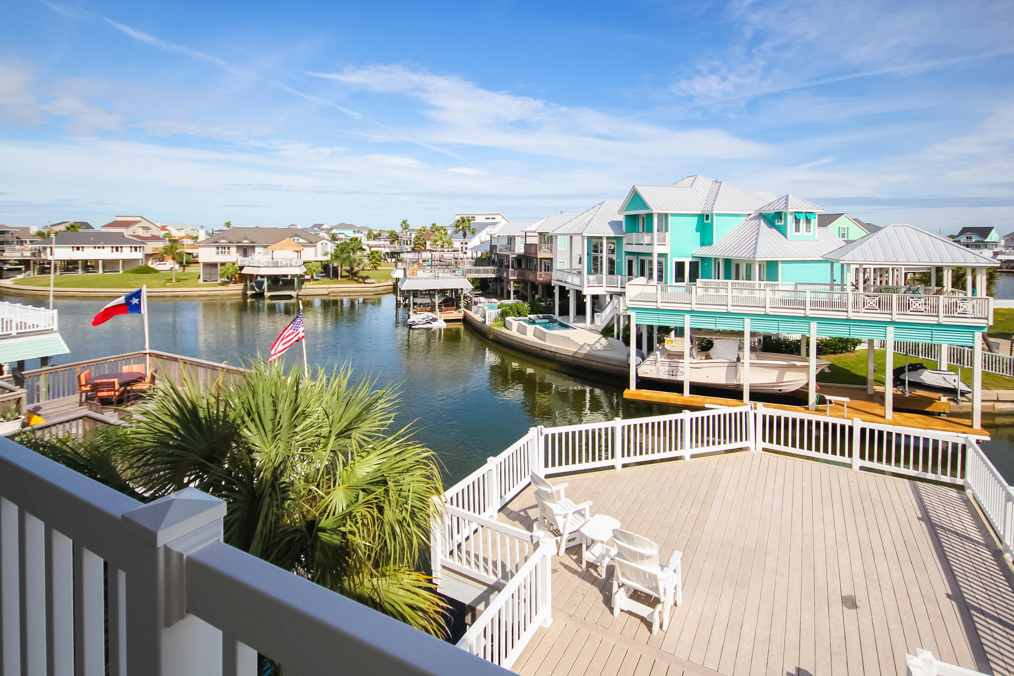 Welcome to Galveston! Your canal-front home is professionally managed by TurnKey Vacation Rentals.