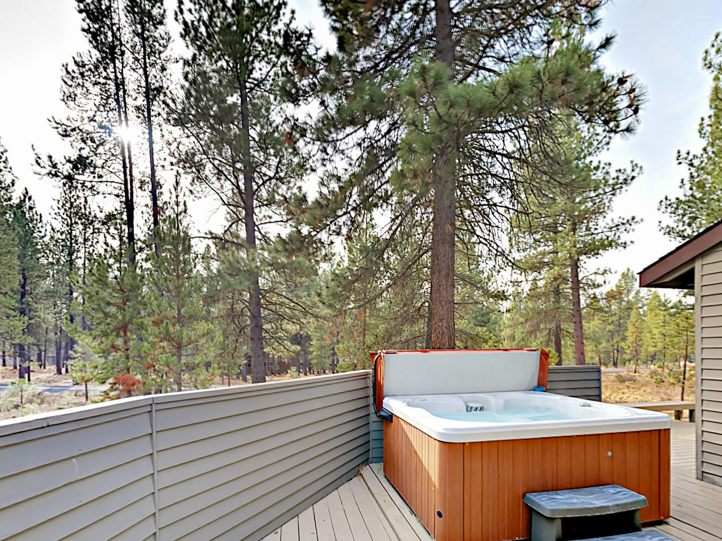 Sunlit Retreat with Hot Tub and Scenic Multi-Level Deck