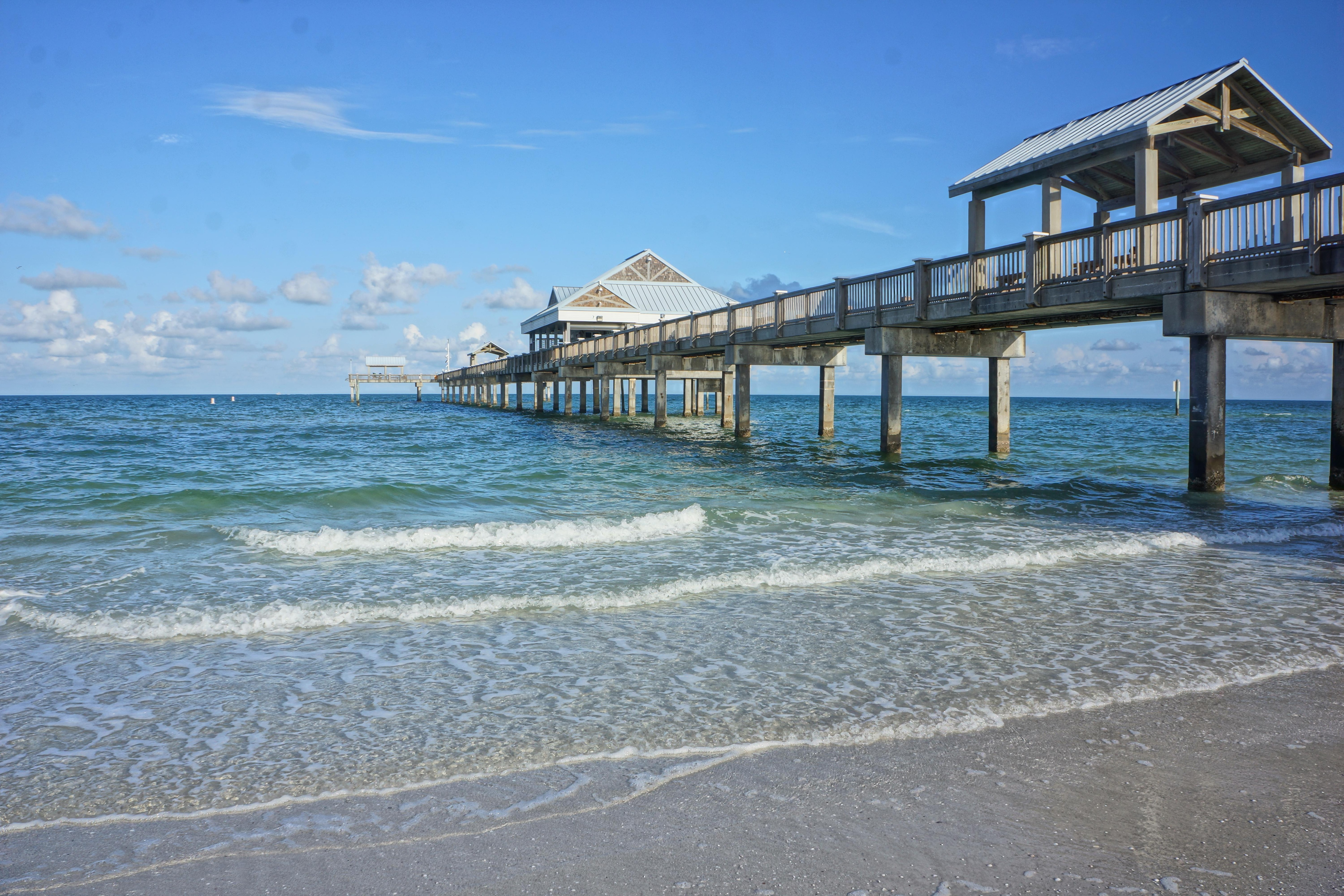 Dip your toes in the Gulf waters and explore numerous nearby piers.