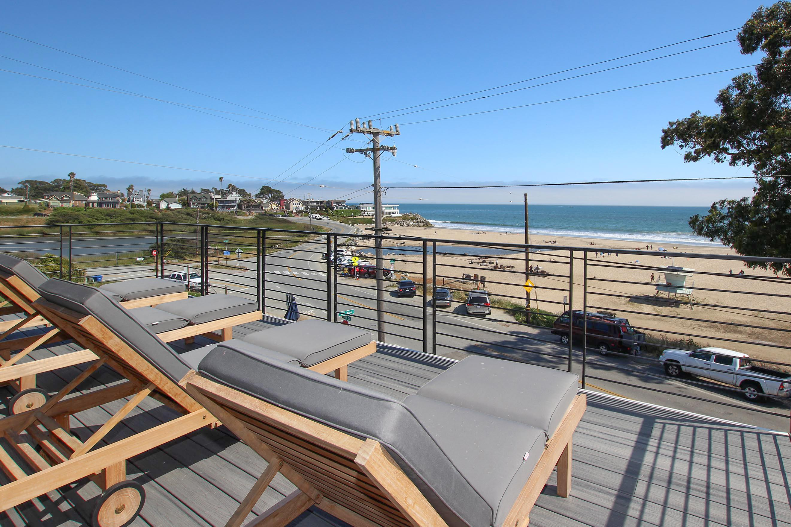 Spend peaceful afternoons on the sun deck overlooking the Pacific.