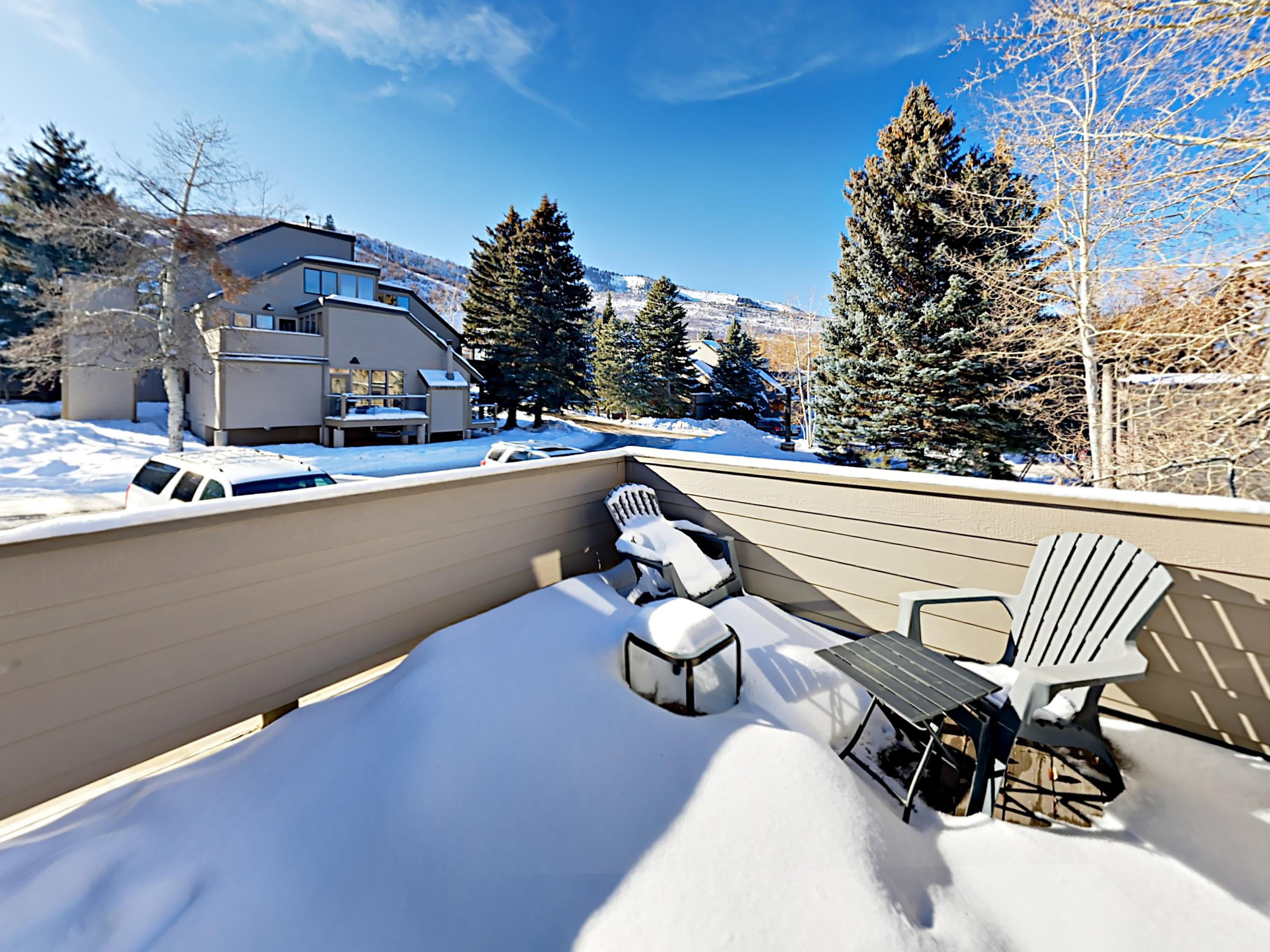 Enjoy the fresh mountain air on your private deck.