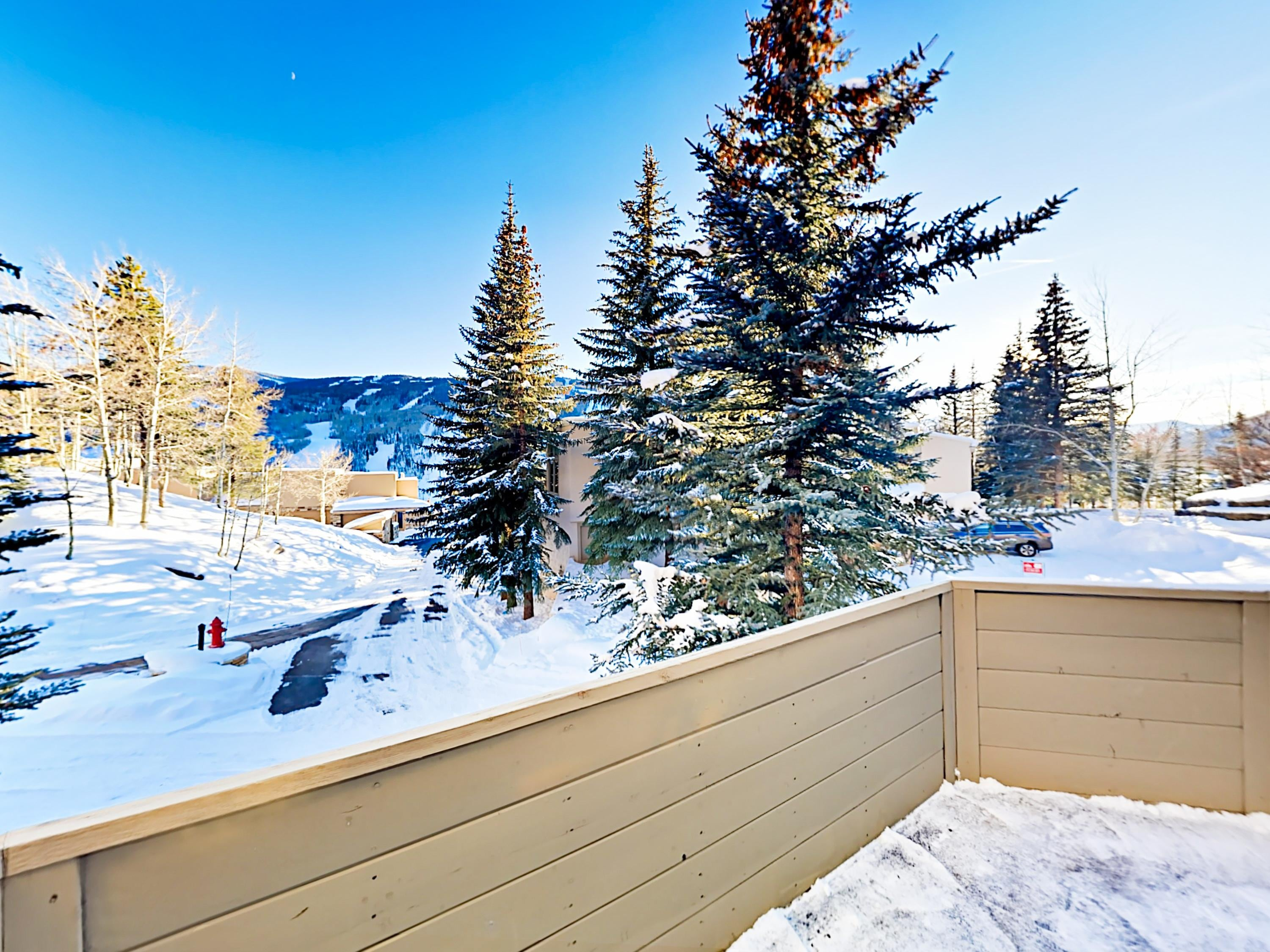 Take in views of Vail Mountain from your open-air balcony.