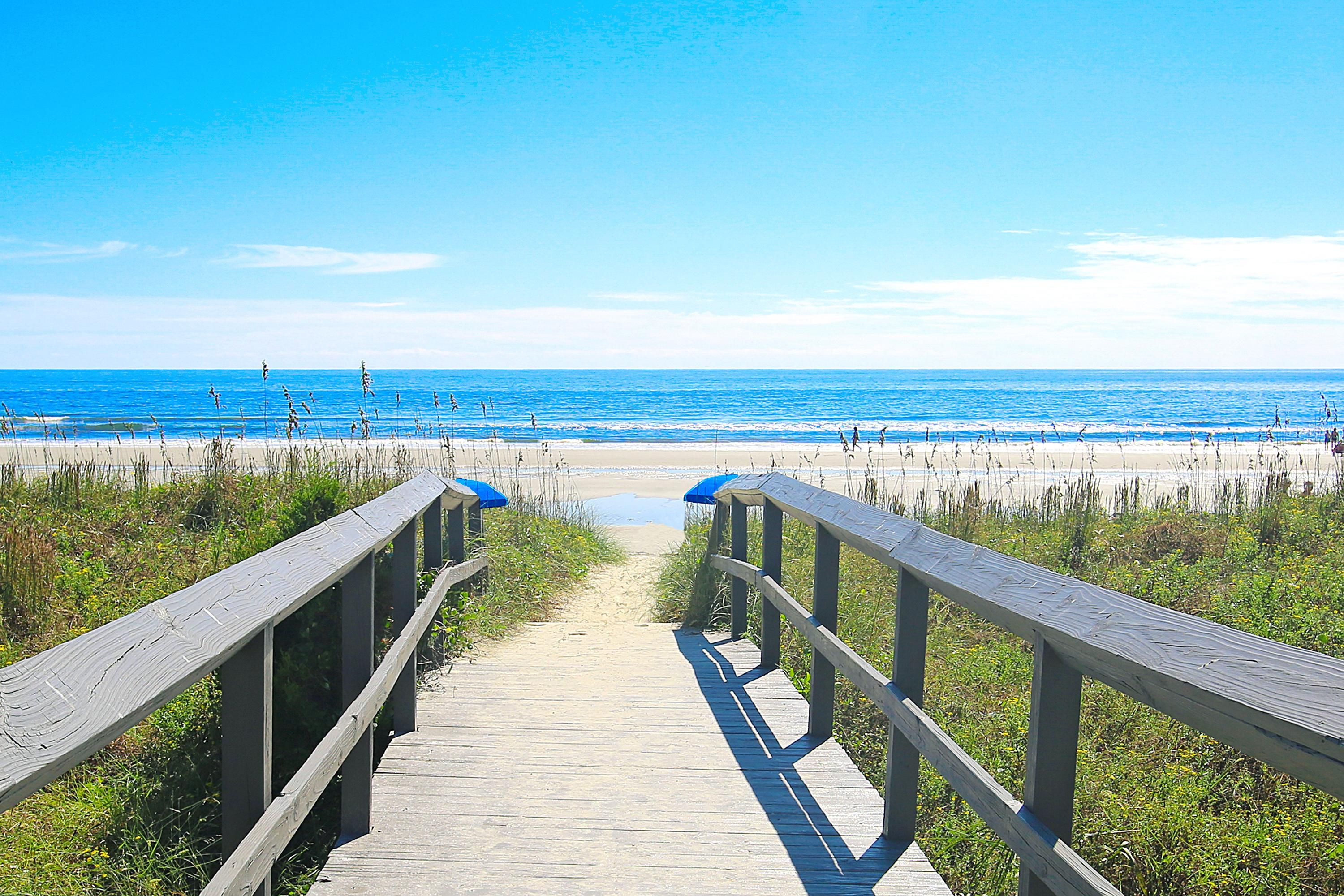 This prime location is less than a half-mile away from the beach!