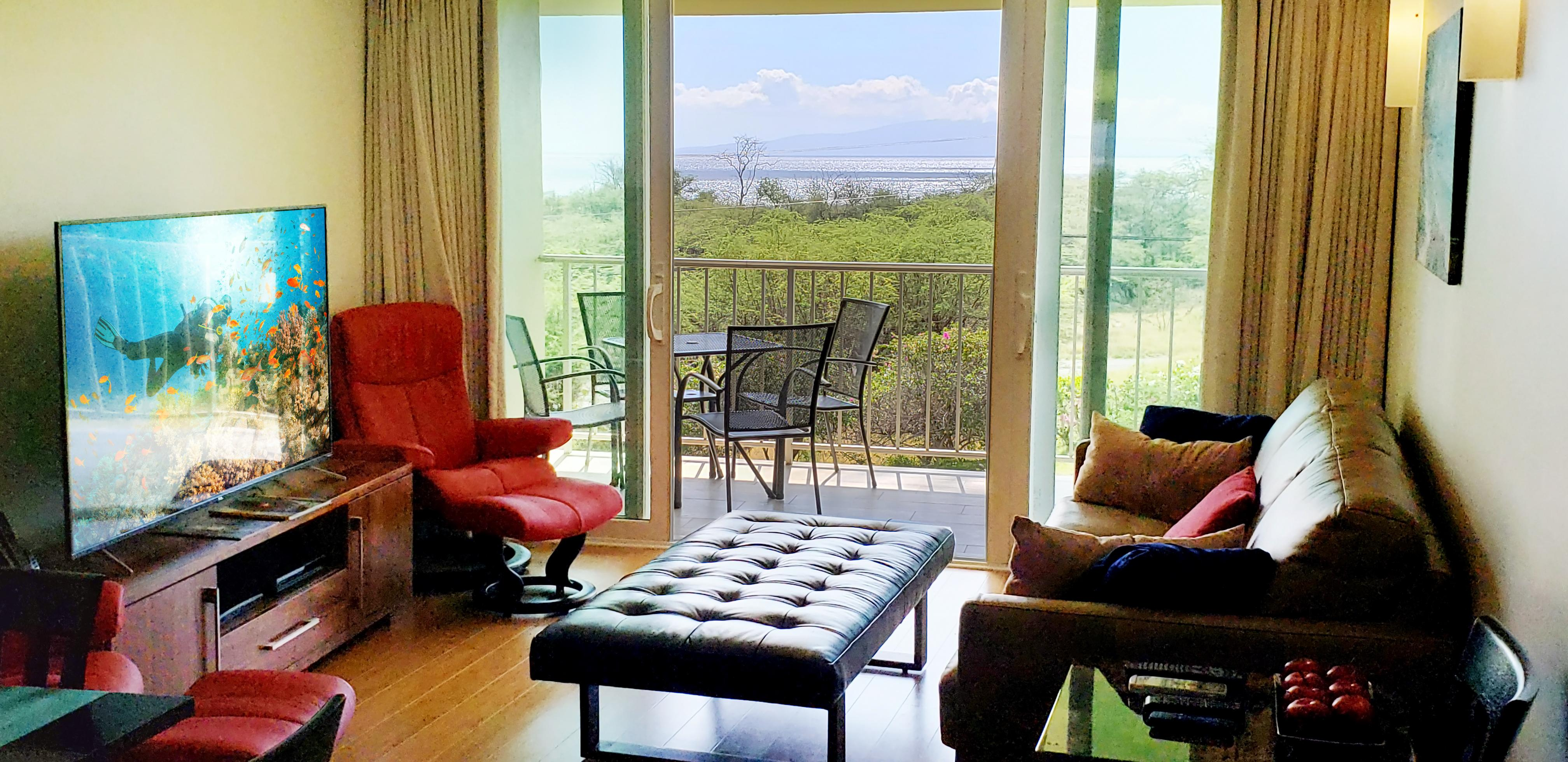 Step outside to take in ocean views and enjoy the lush landscape from your private balcony.
