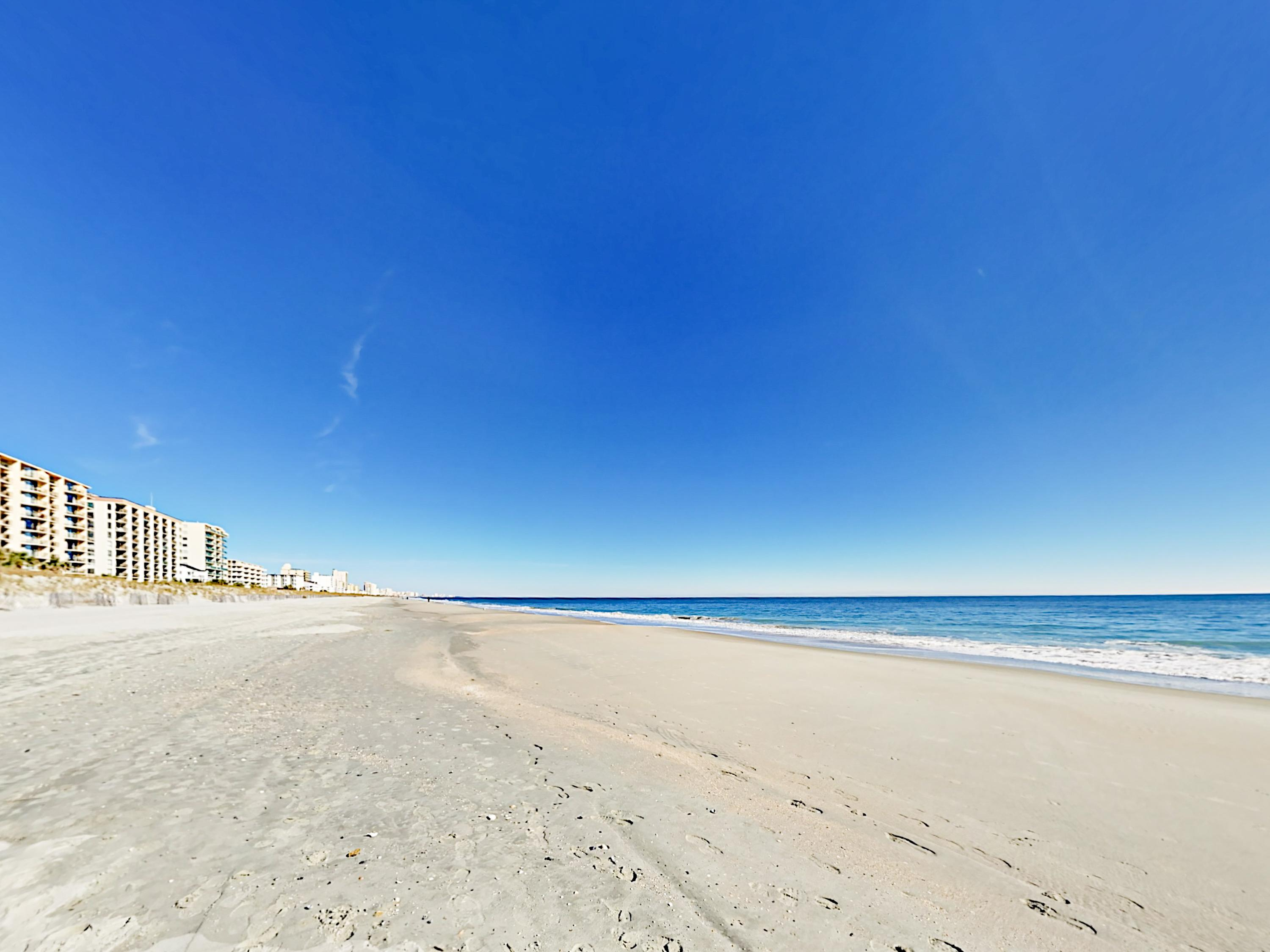The pristine sands of Myrtle Beach are at your doorstep.