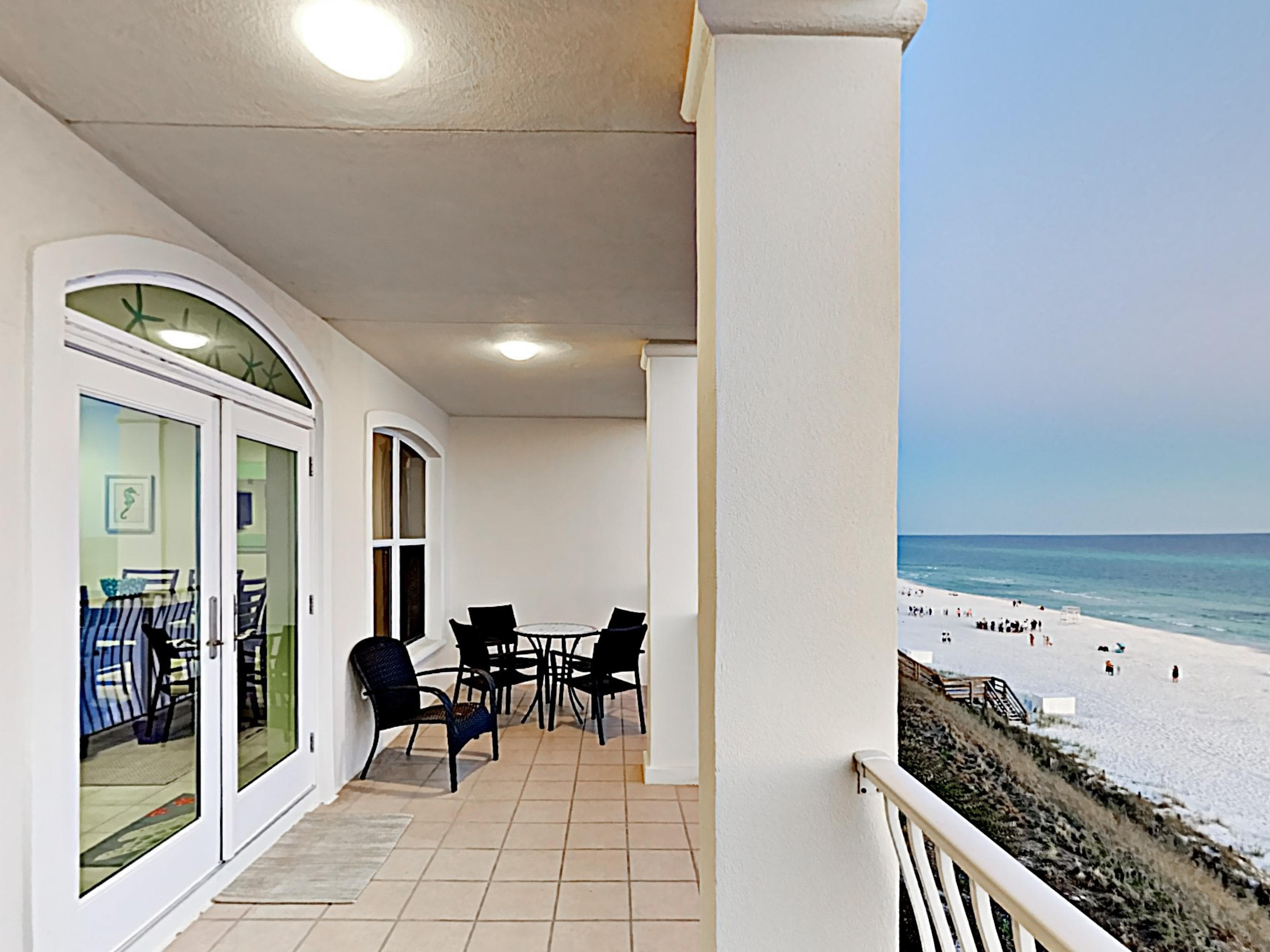 Take in sweeping Gulf views from your private covered balcony.