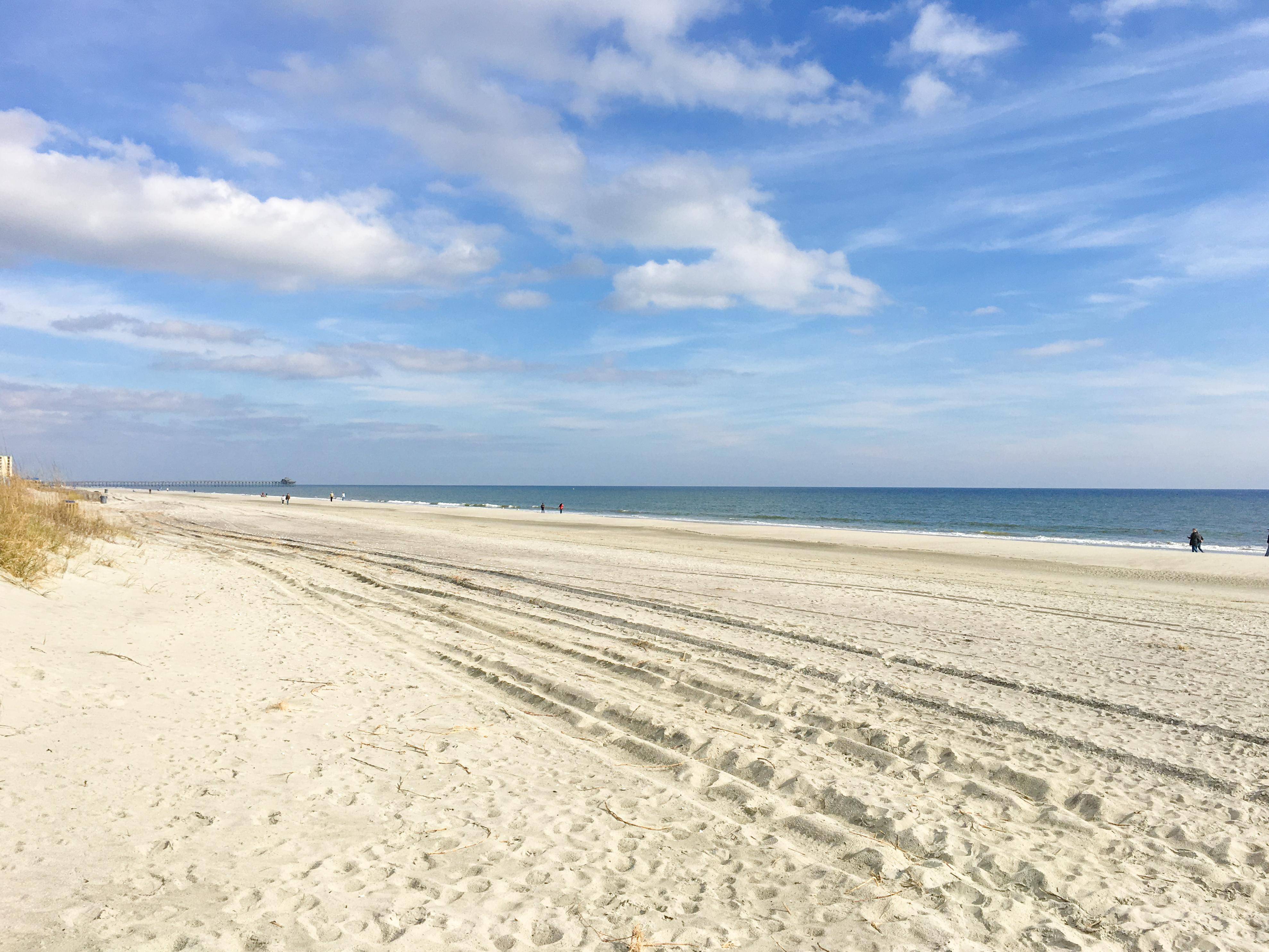 The condo is just steps away from Cherry Grove Beach.