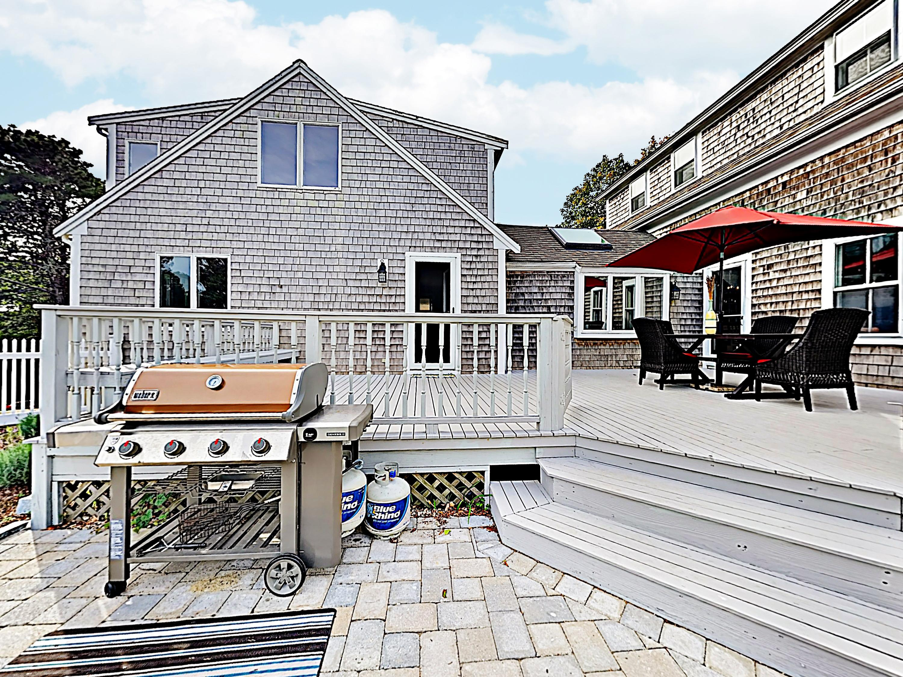 After a day of outdoor adventures, unwind on the deck and fire up the grill for a family barbeque.
