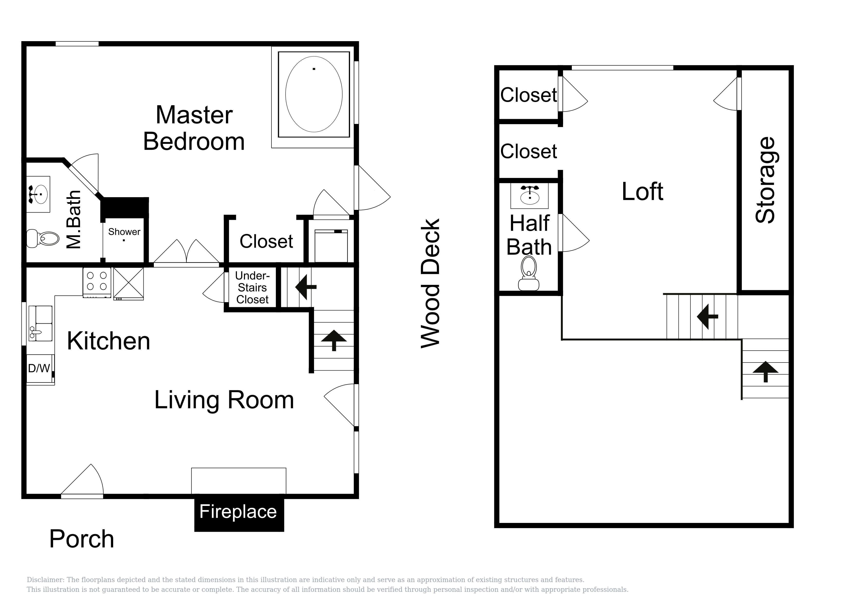This floor plan for Blue Heron is an approximation and may not include the most recent information.