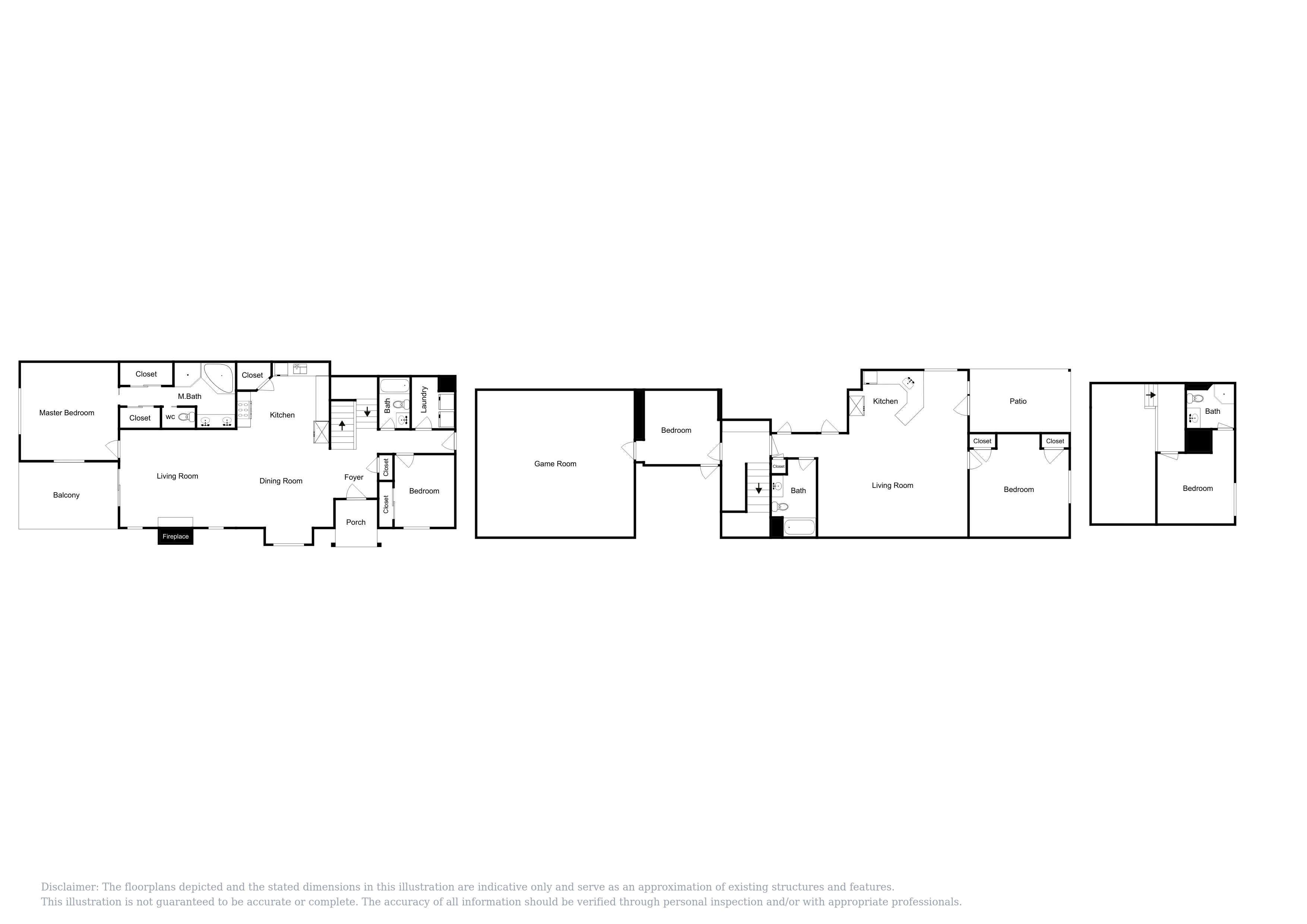 This floor plan is an approximation, and may not include any recent changes.
