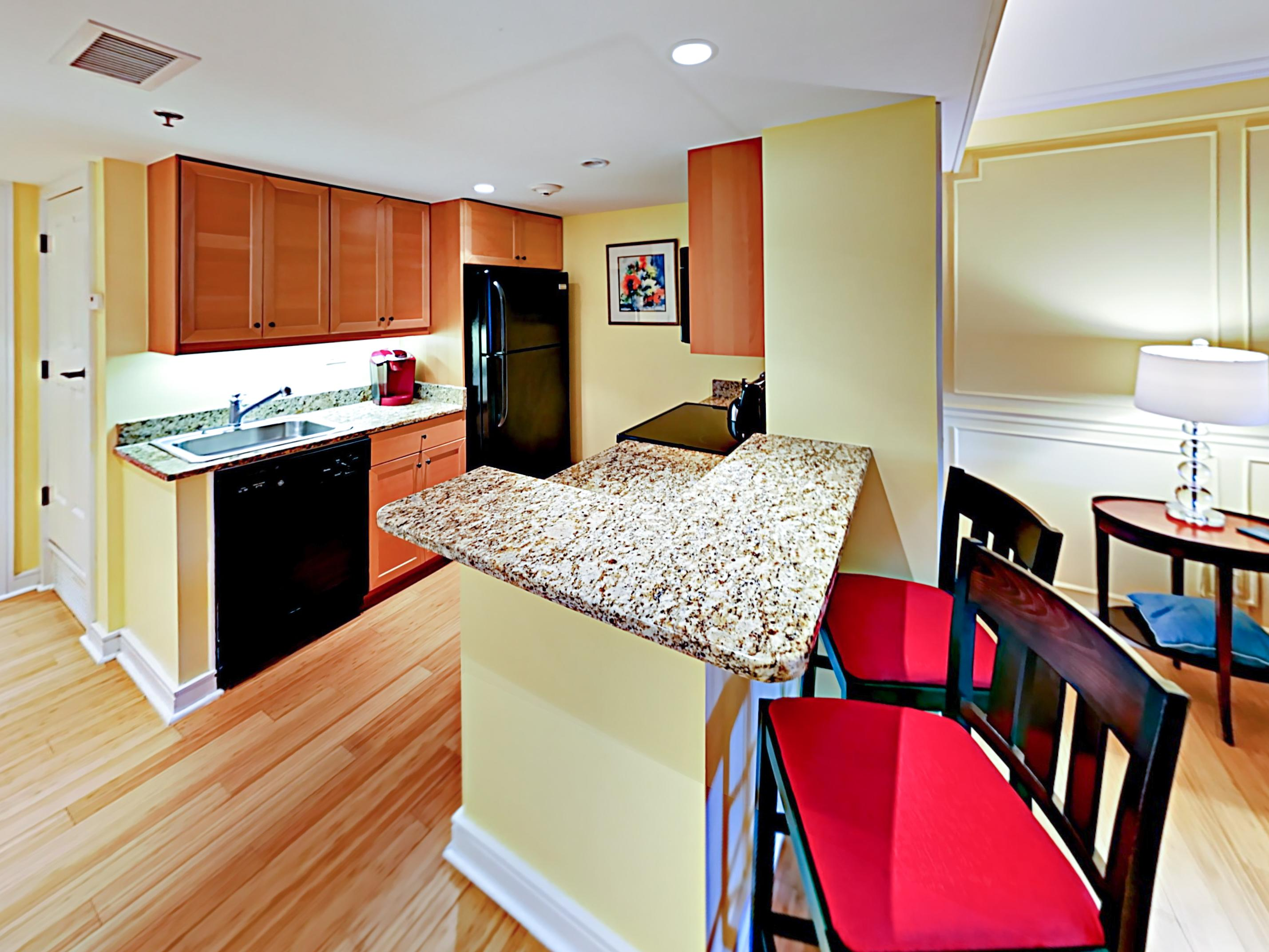 The chef in your group will appreciate the gourmet kitchen, newly updated with granite countertops.