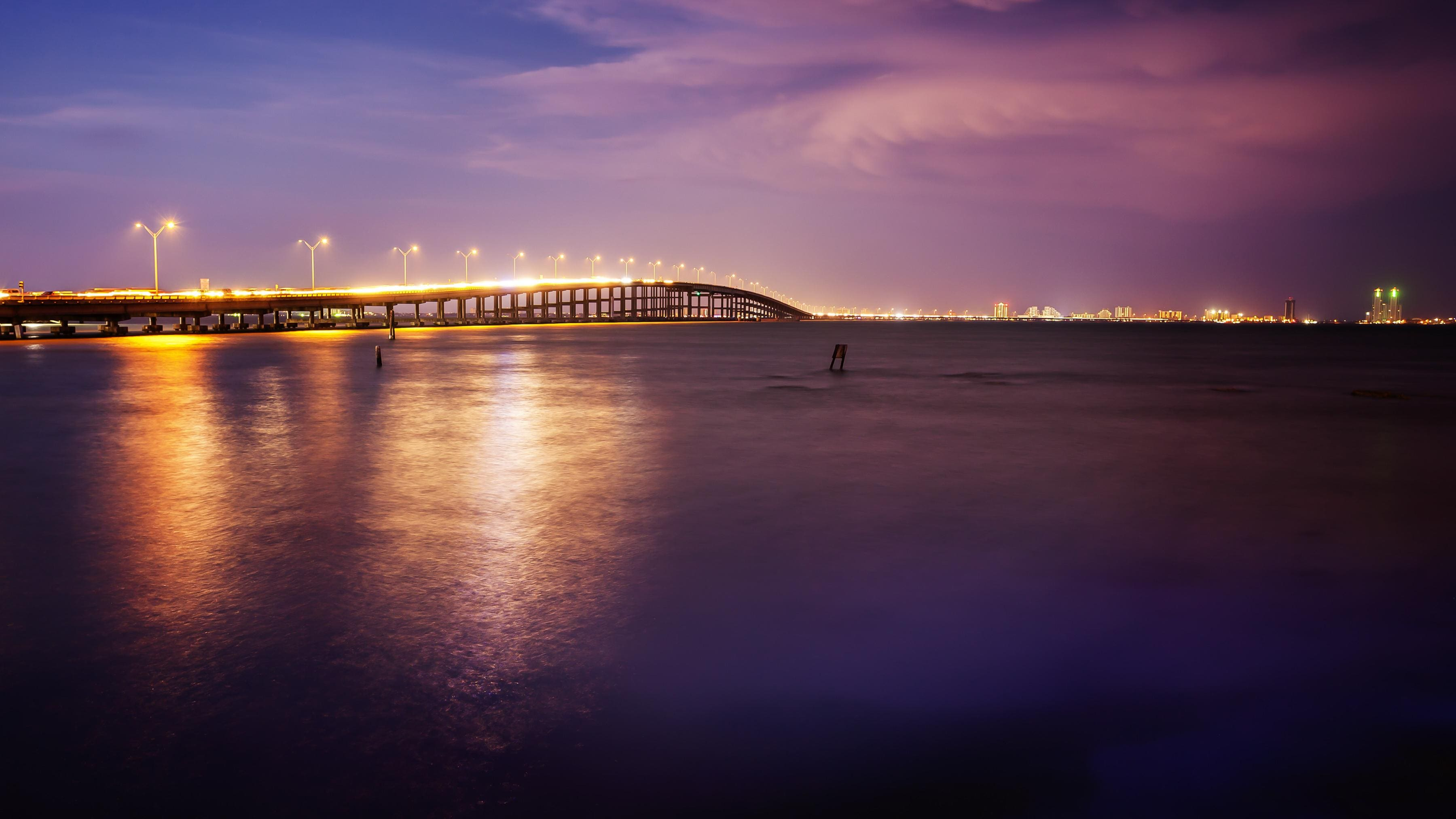 The Queen Isabella Causeway connects South Padre Island to the mainland.